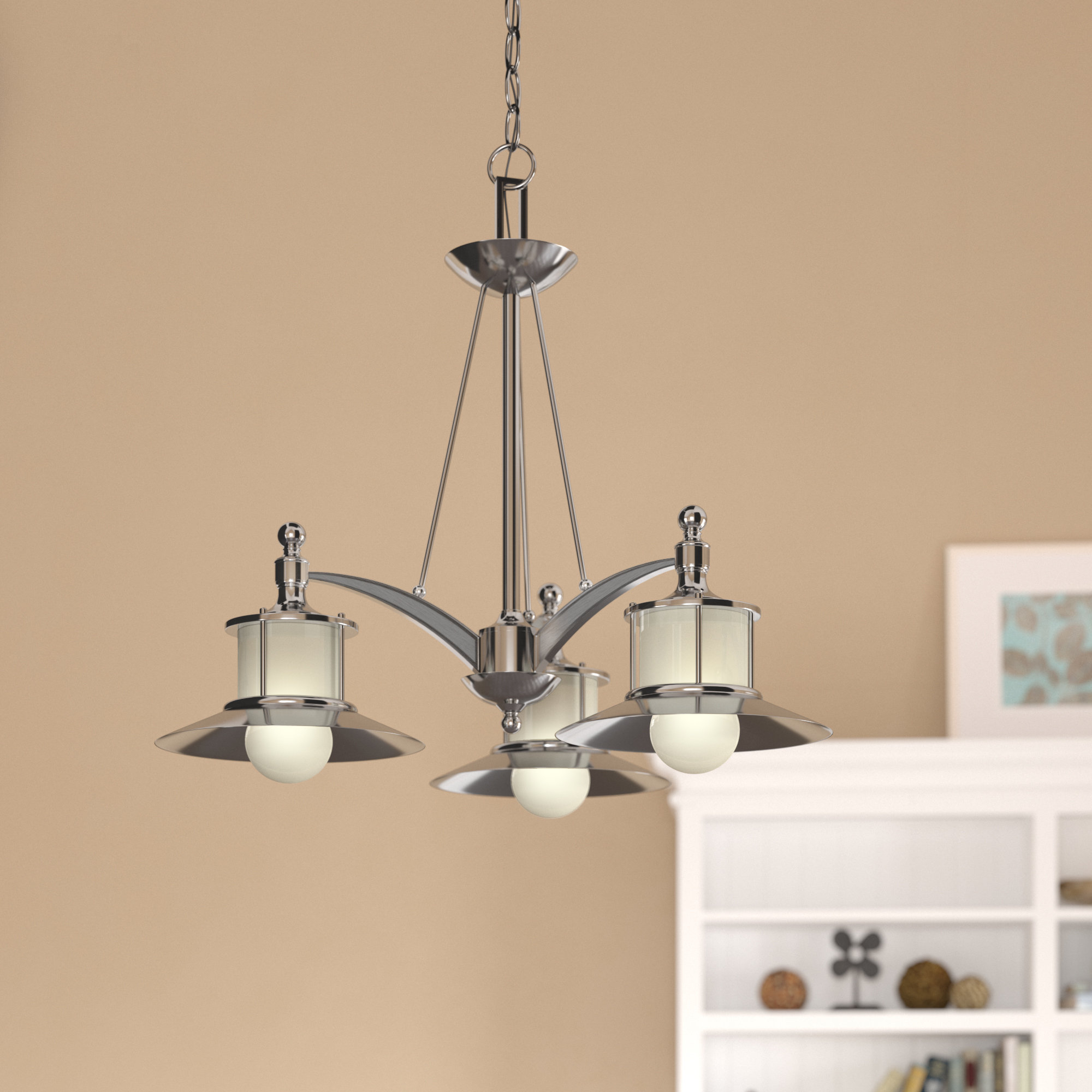 Widely Used Salley 3 Light Shaded Chandelier Regarding Alayna 4 Light Shaded Chandeliers (Gallery 5 of 20)