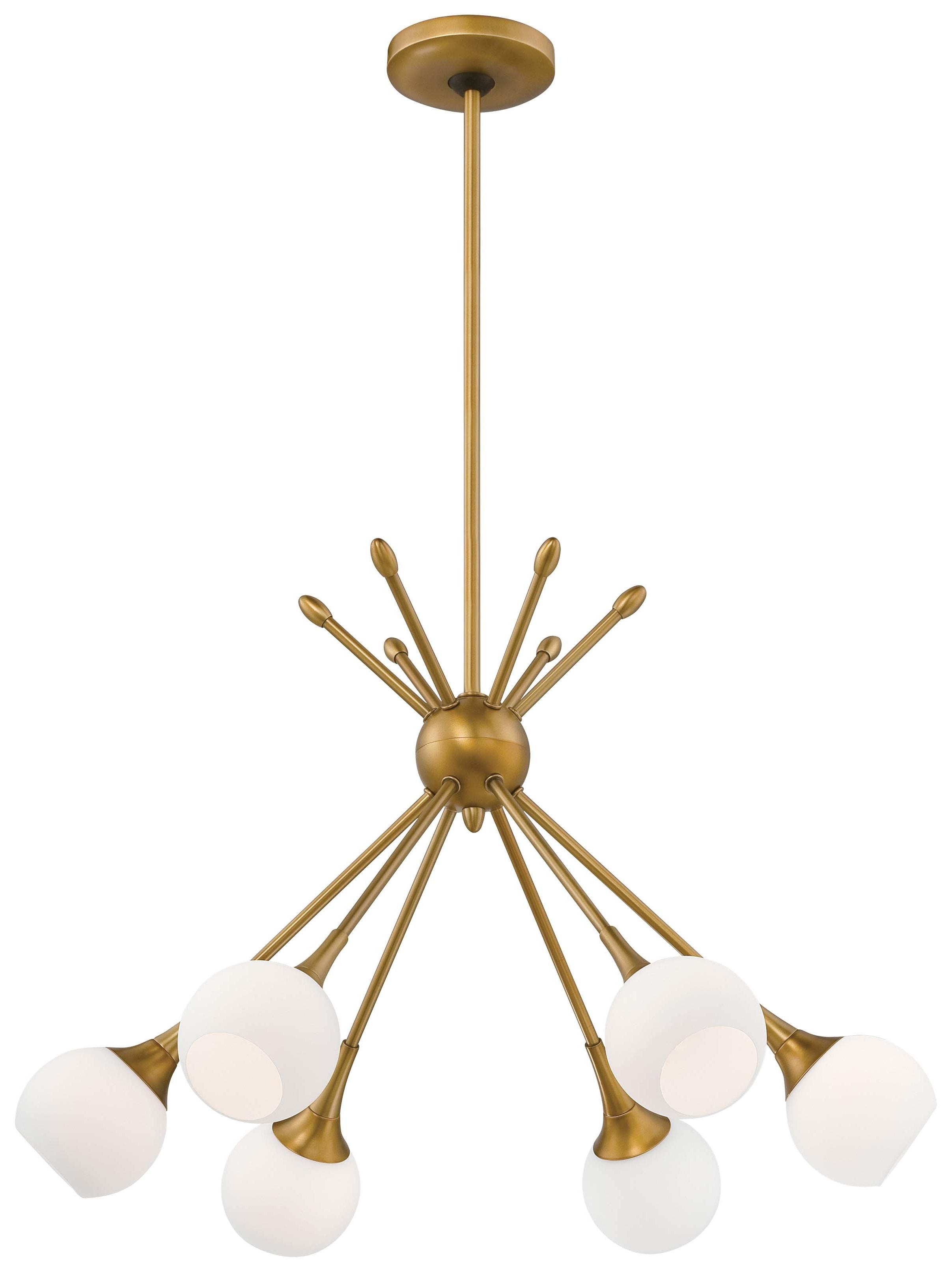 Widely Used Silvia 6 Light Sputnik Chandelier Intended For Everett 10 Light Sputnik Chandeliers (View 20 of 20)
