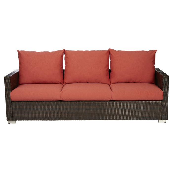 Widely Used Stockwell Patio Sofas With Cushions Throughout Mcmanis Patio Sofa With Cushion (View 11 of 20)