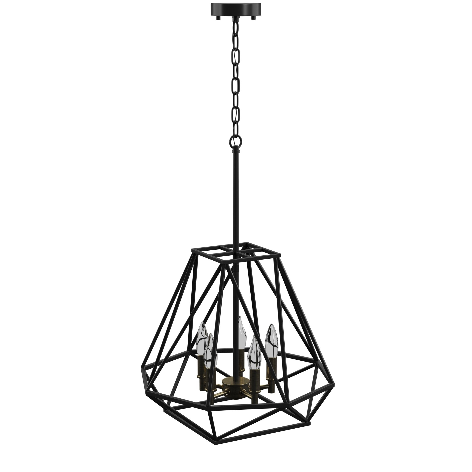 Widely Used Tabit 5 Light Geometric Chandeliers With Regard To Mercury Row Tabit 5 Light Geometric Chandelier & Reviews (View 2 of 20)
