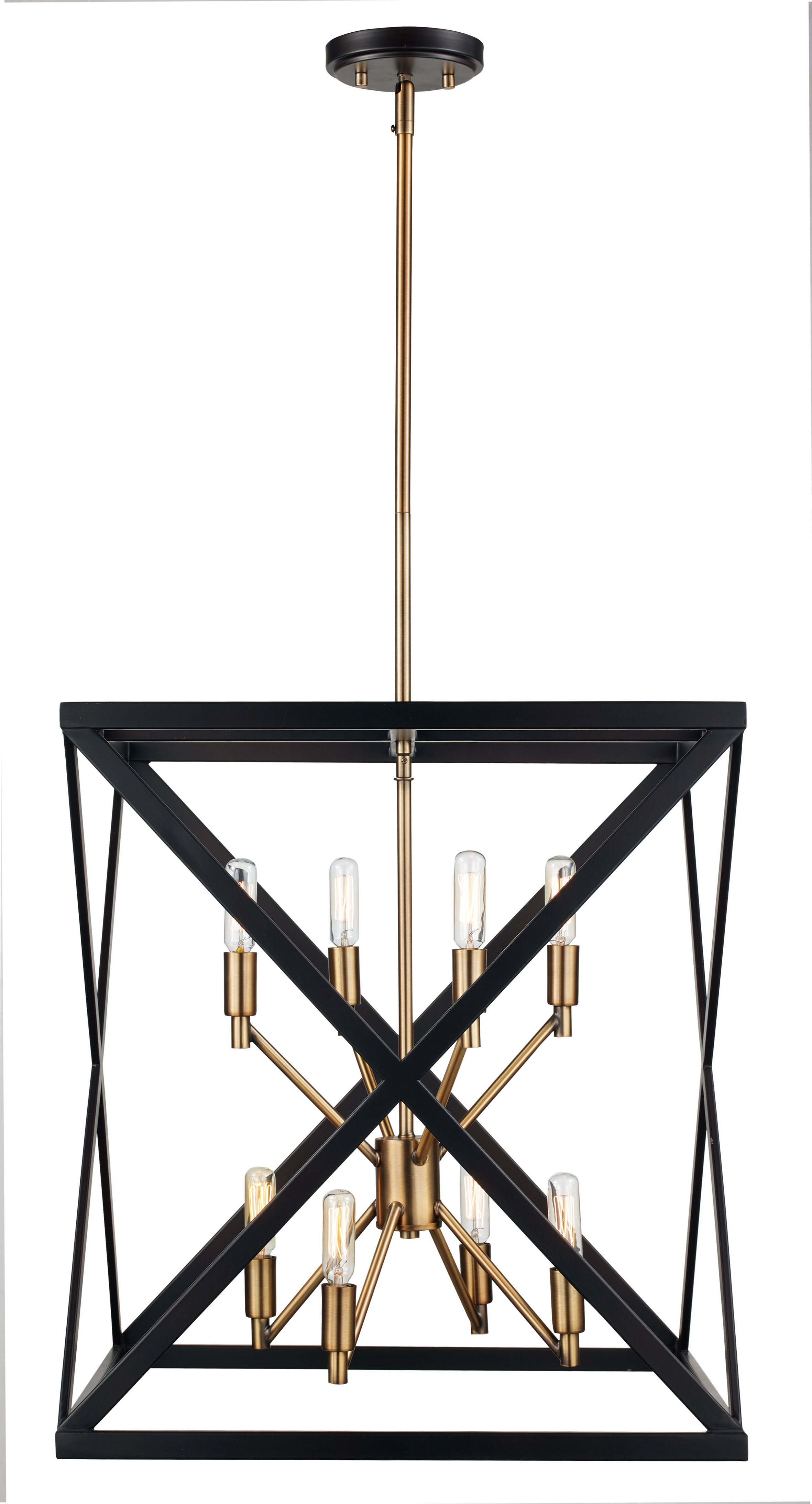 Widely Used Tanksley 8 Light Square/rectangle Chandelier Pertaining To Delon 4 Light Square Chandeliers (Gallery 20 of 20)