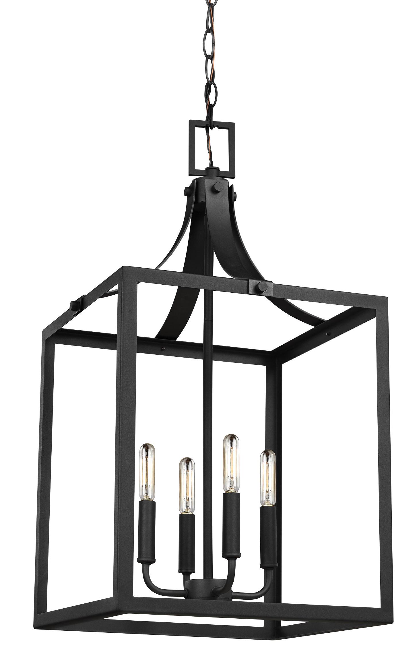 Widely Used Thorne 4 Light Lantern Rectangle Pendants In Sherri Ann 4 Light Foyer Pendant (View 13 of 20)