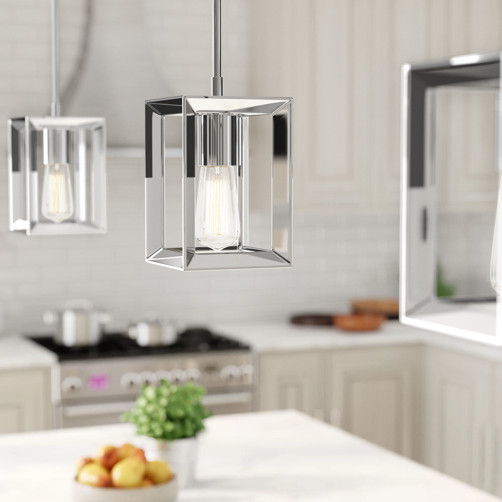 Widely Used Thorne 4 Light Lantern Rectangle Pendants Regarding Thorne 1 Light Square/rectangle Pendant (View 20 of 20)