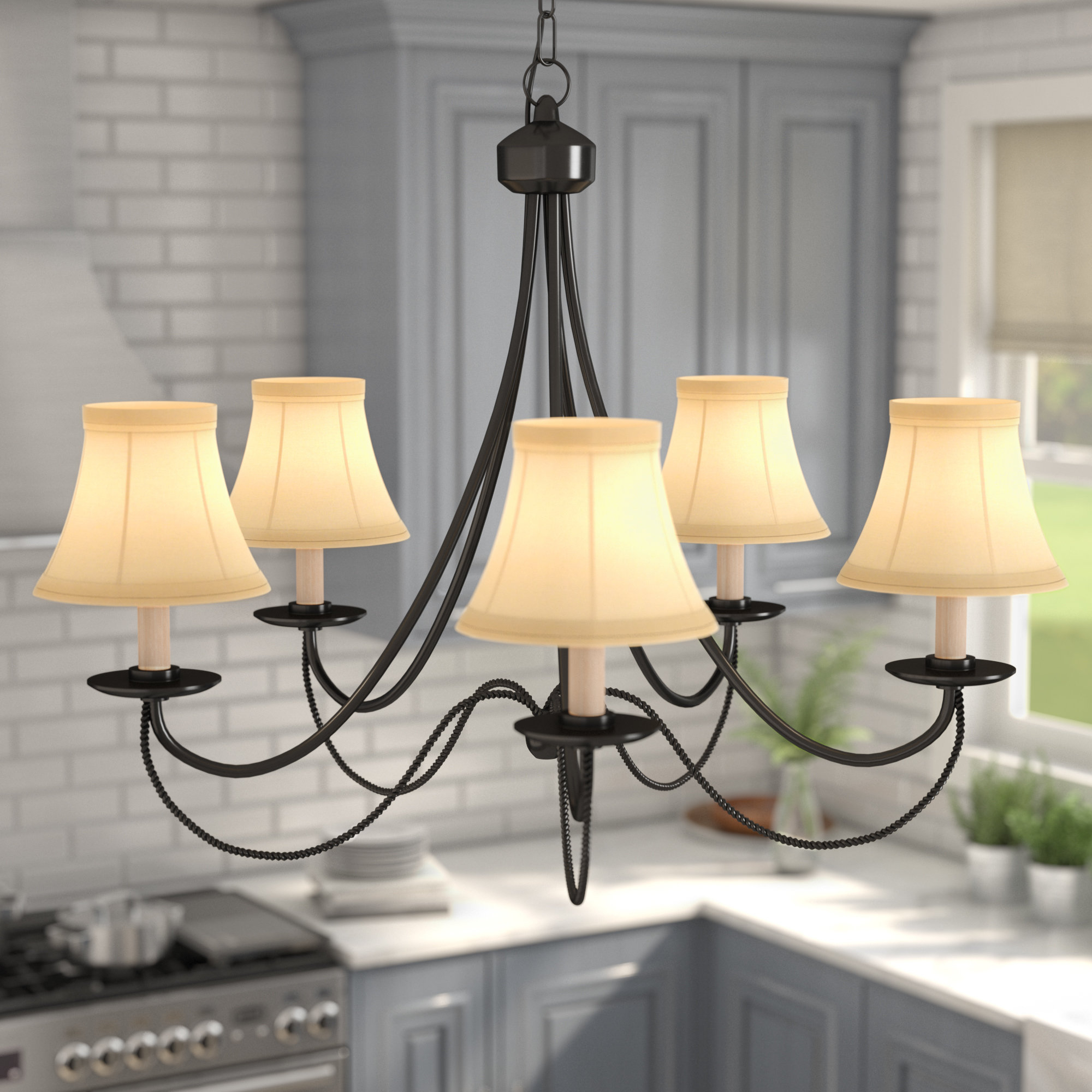 Widely Used Venilale 5 Light Shaded Chandelier Within Suki 5 Light Shaded Chandeliers (View 20 of 20)