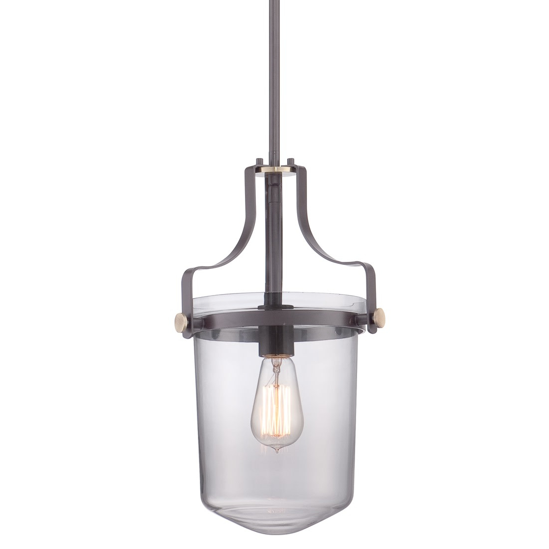 Widely Used Vintage Edison 1 Light Bowl Pendants Inside Details About Quoizel Upps1510wt Penn Station 1 Light Mini Pendant With Vintage Edison Bulb (View 14 of 20)
