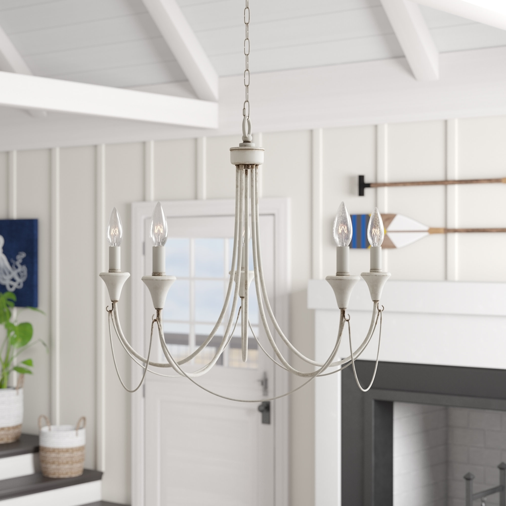 Widely Used Walczak 5 Light Candle Style Chandelier Pertaining To Florentina 5 Light Candle Style Chandeliers (View 5 of 20)