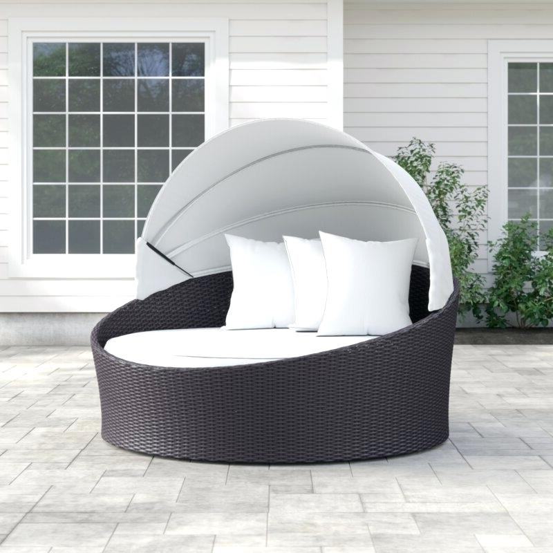 Widely Used Wicker Daybed With Canopy – Ethelenetrepanier.co Pertaining To Behling Canopy Patio Daybeds With Cushions (Gallery 12 of 20)