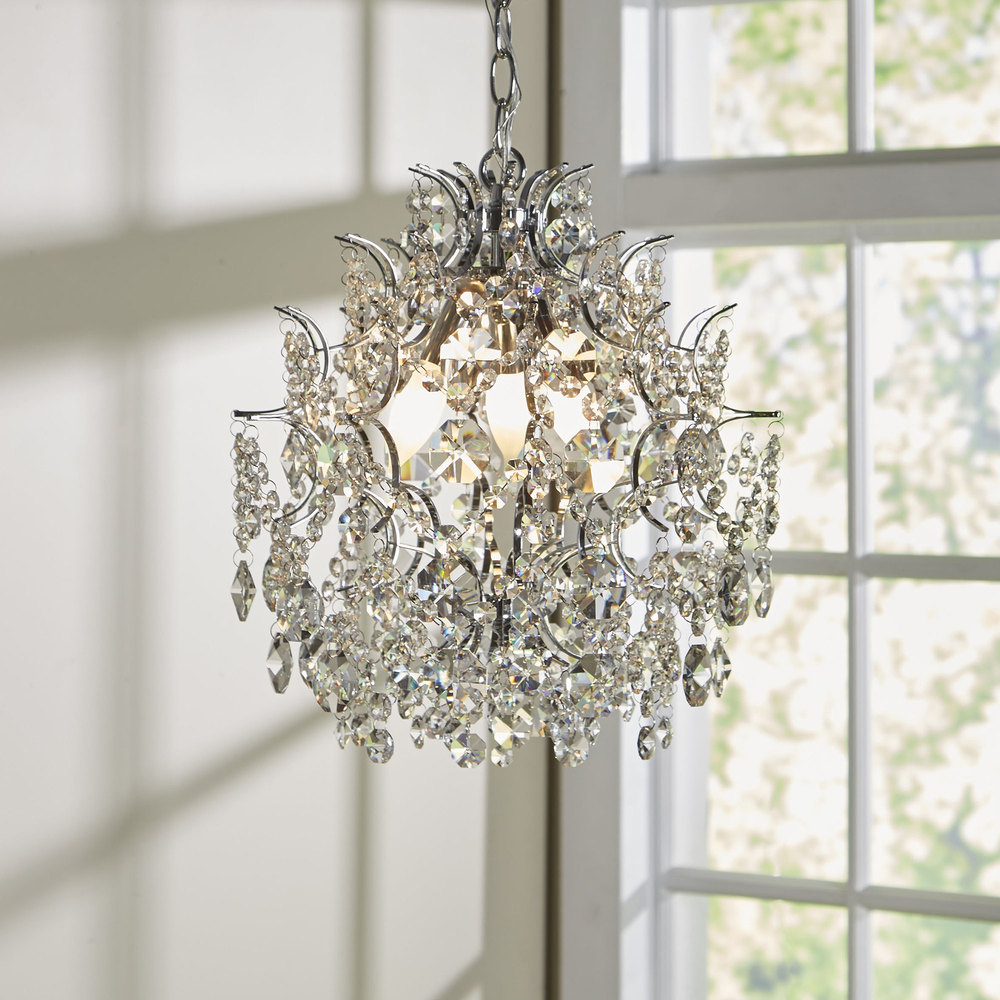Willa Arlo Interiors Clea 3 Light Crystal Chandelier With Best And Newest Benedetto 5 Light Crystal Chandeliers (View 20 of 20)