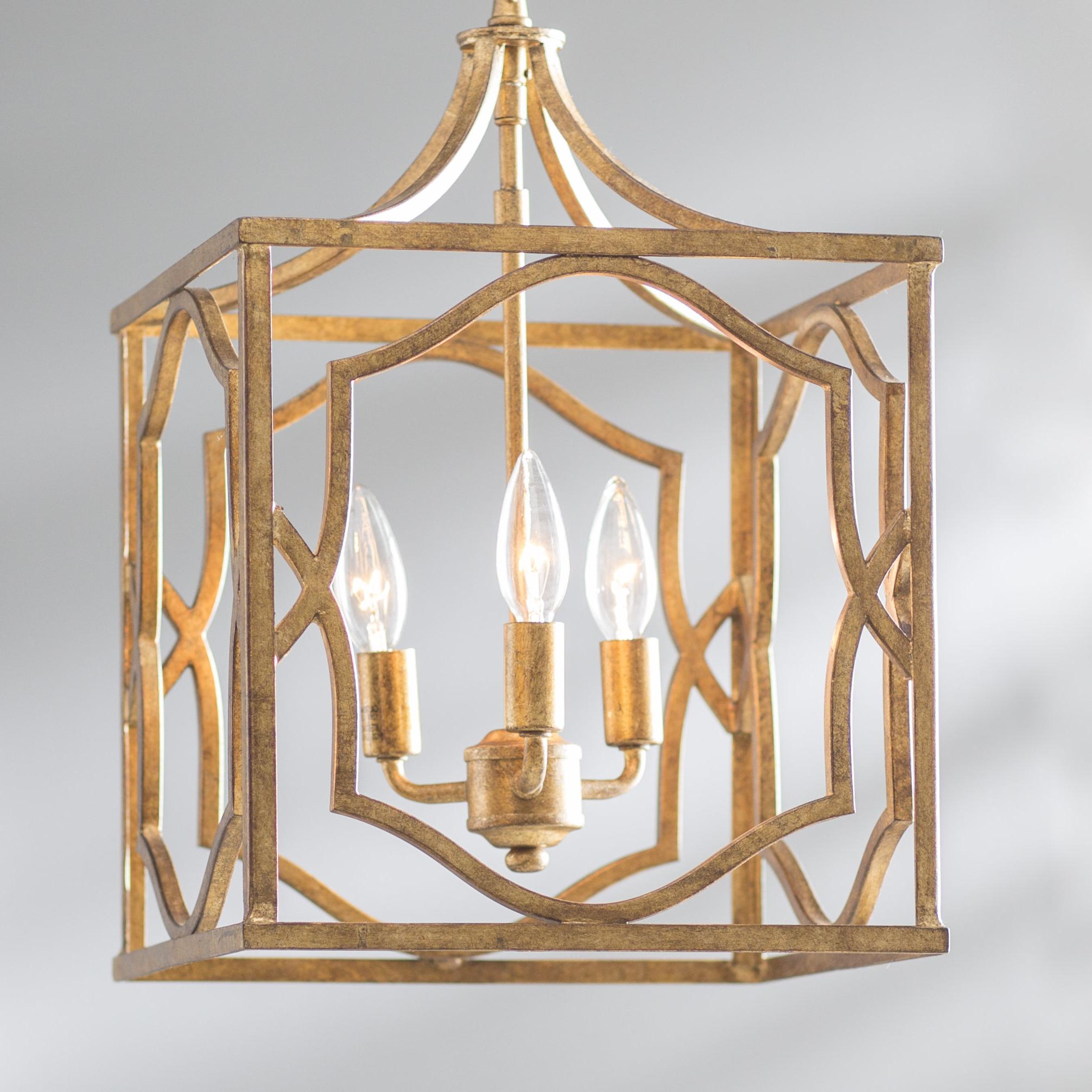 Willa Arlo Interiors Destrey 3 Light Lantern Pendant Throughout Favorite Destrey 3 Light Lantern Square/rectangle Pendants (Gallery 16 of 20)