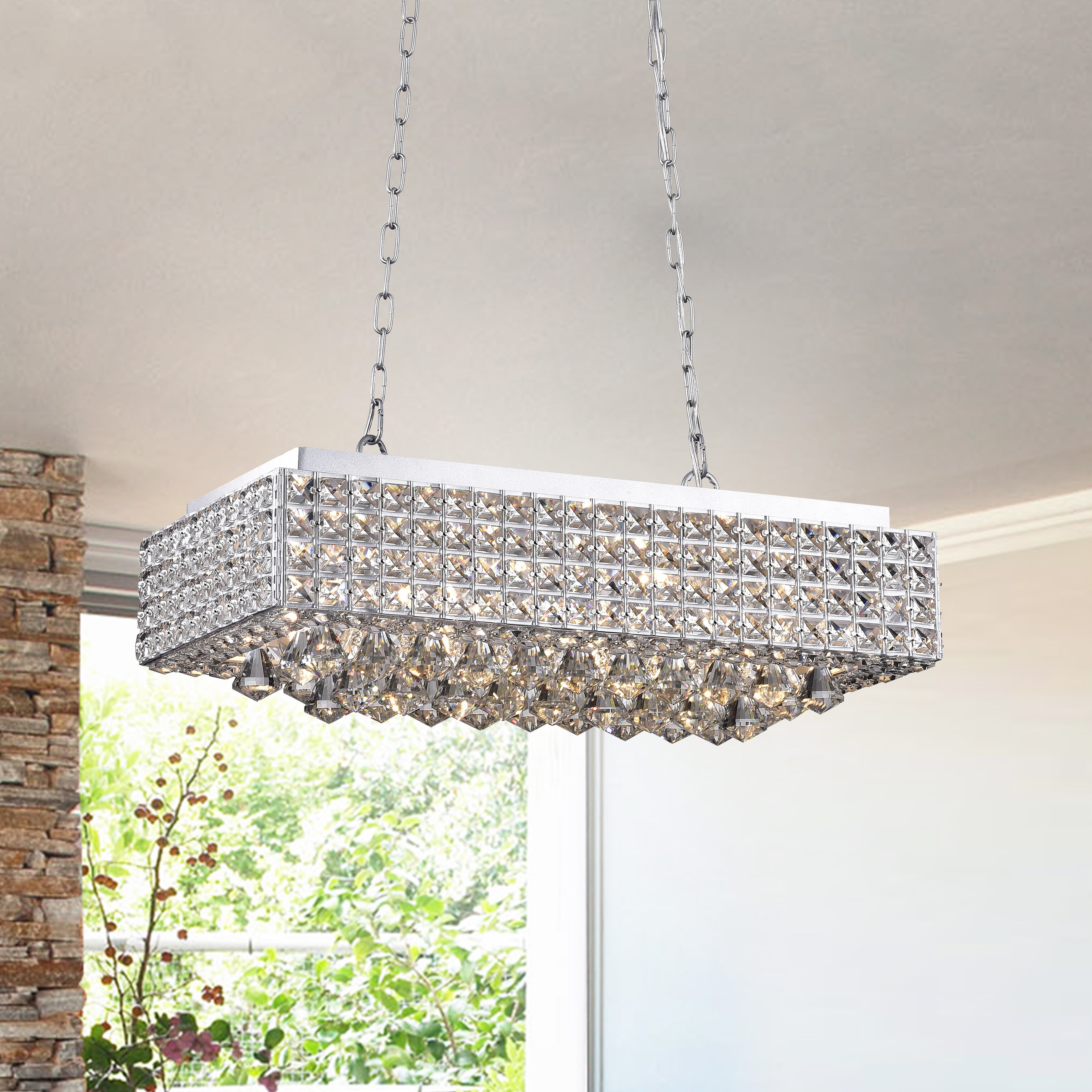Willa Arlo Interiors Dhairya 8 Light Kitchen Island Pendant Inside Widely Used Gracelyn 8 Light Kitchen Island Pendants (View 20 of 20)