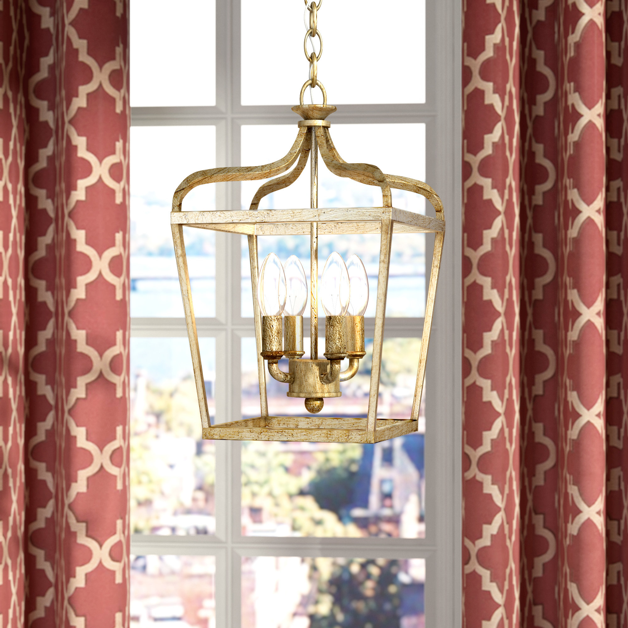 Willa Arlo Interiors Seraphine 4 Light Foyer Pendant Inside Favorite Finnick 4 Light Foyer Pendants (View 18 of 20)