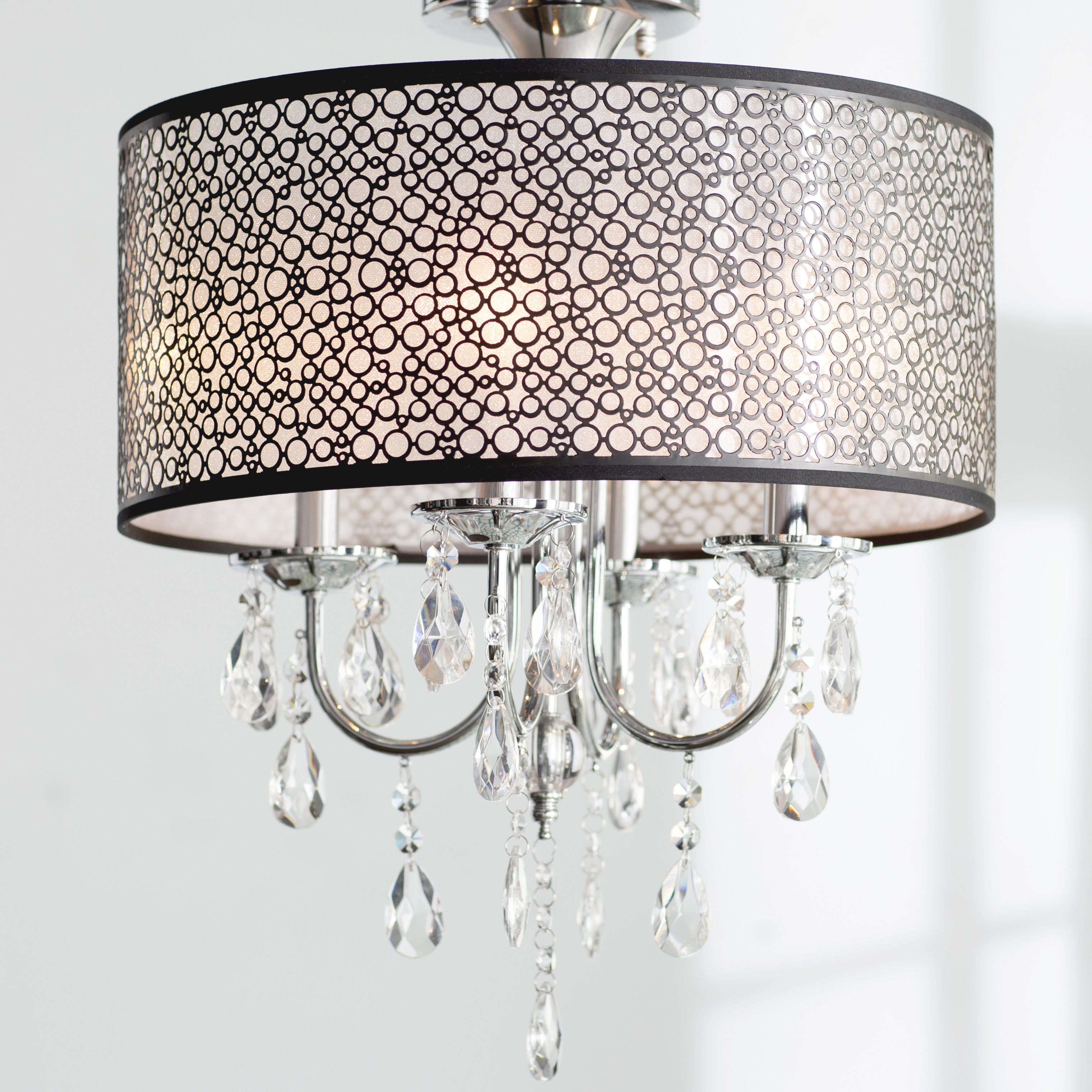 Willa Arlo Interiors Sinead 4 Light Chandelier & Reviews Within Widely Used Lindsey 4 Light Drum Chandeliers (View 20 of 20)