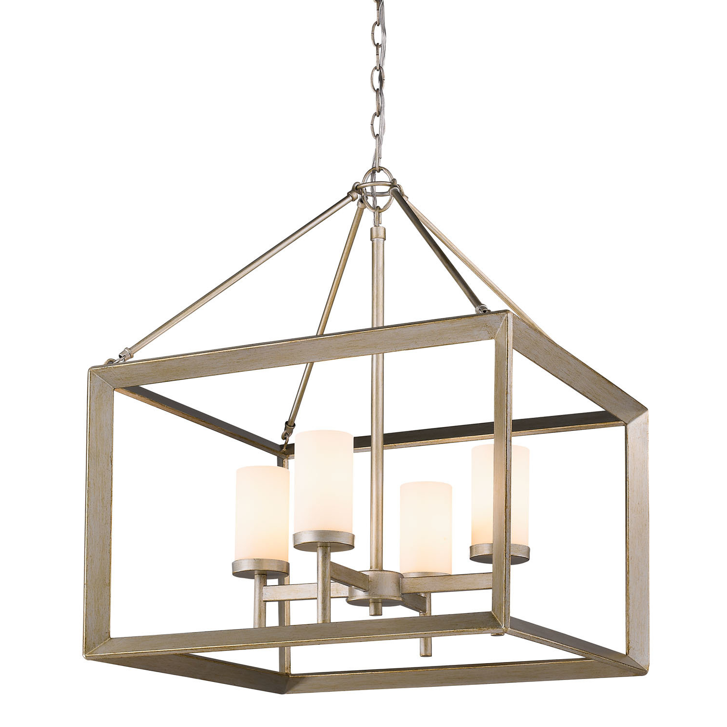 William 4 Light Lantern Square / Rectangle Pendants Pertaining To Preferred Thorne 4 Light Lantern Rectangle Pendant (Gallery 16 of 20)