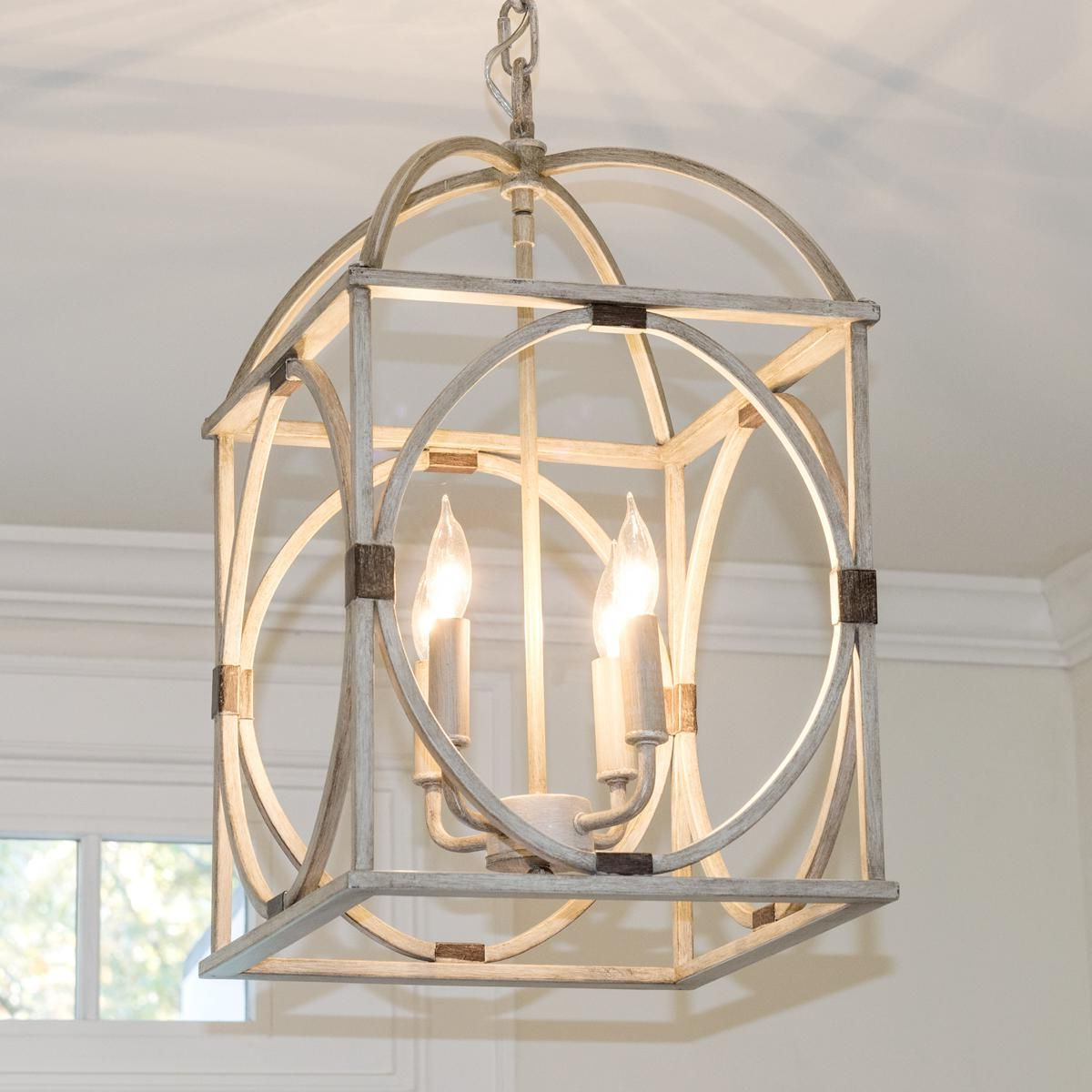 William 4 Light Lantern Square / Rectangle Pendants Within Well Known Circle Lattice Hanging Lantern – 4 Light (Gallery 10 of 20)
