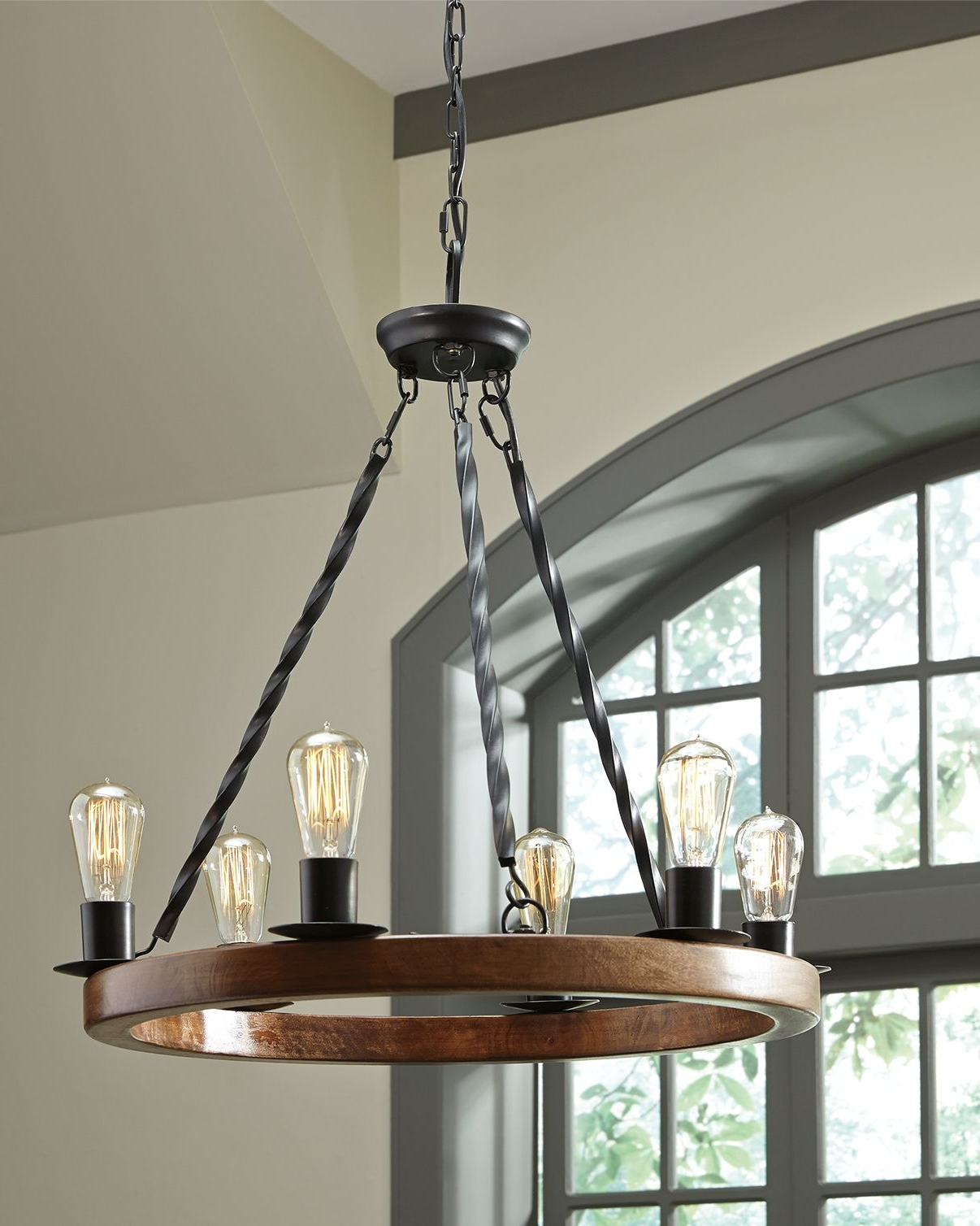 Wood With Preferred Aadhya 5 Light Drum Chandeliers (View 17 of 20)