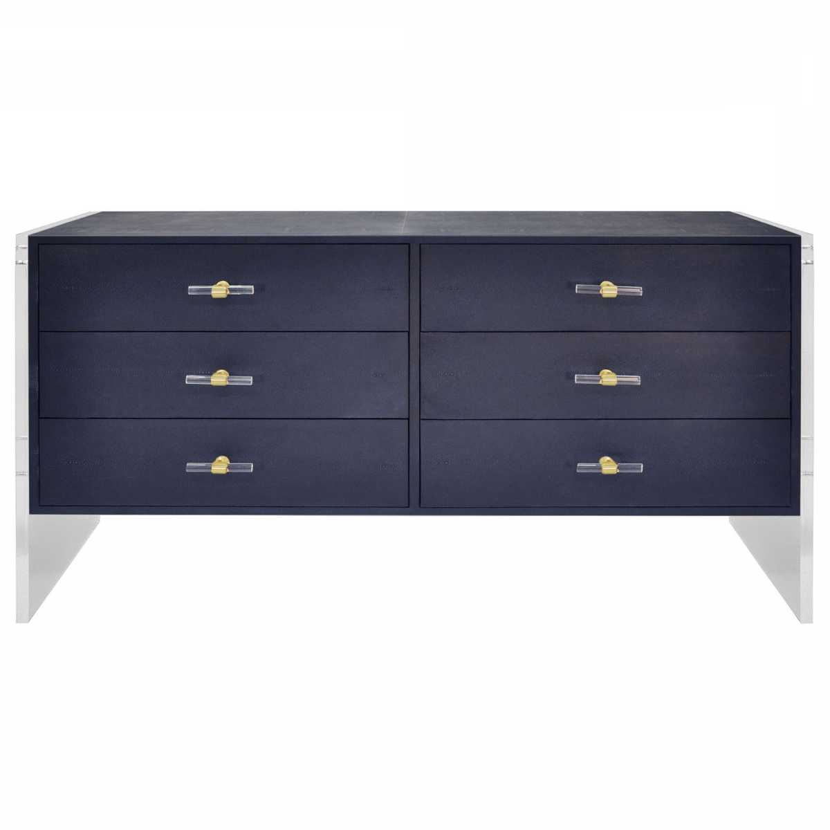 Worlds Away Rutherford Dresser – Navy For 2020 Rutherford Sideboards (View 7 of 20)