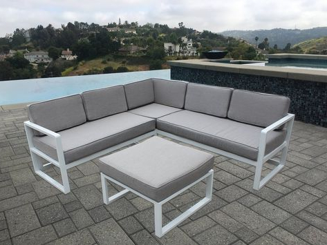 Wrobel 4 Piece Sectional Seating Group With Cushions With Regard To 2020 Wrobel Patio Sectionals With Cushion (View 3 of 20)