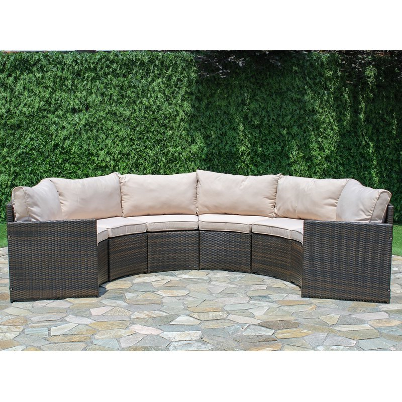 Wrobel Patio Sectionals With Cushion Within Preferred Griswold Patio Sectional With Cushions (View 7 of 20)