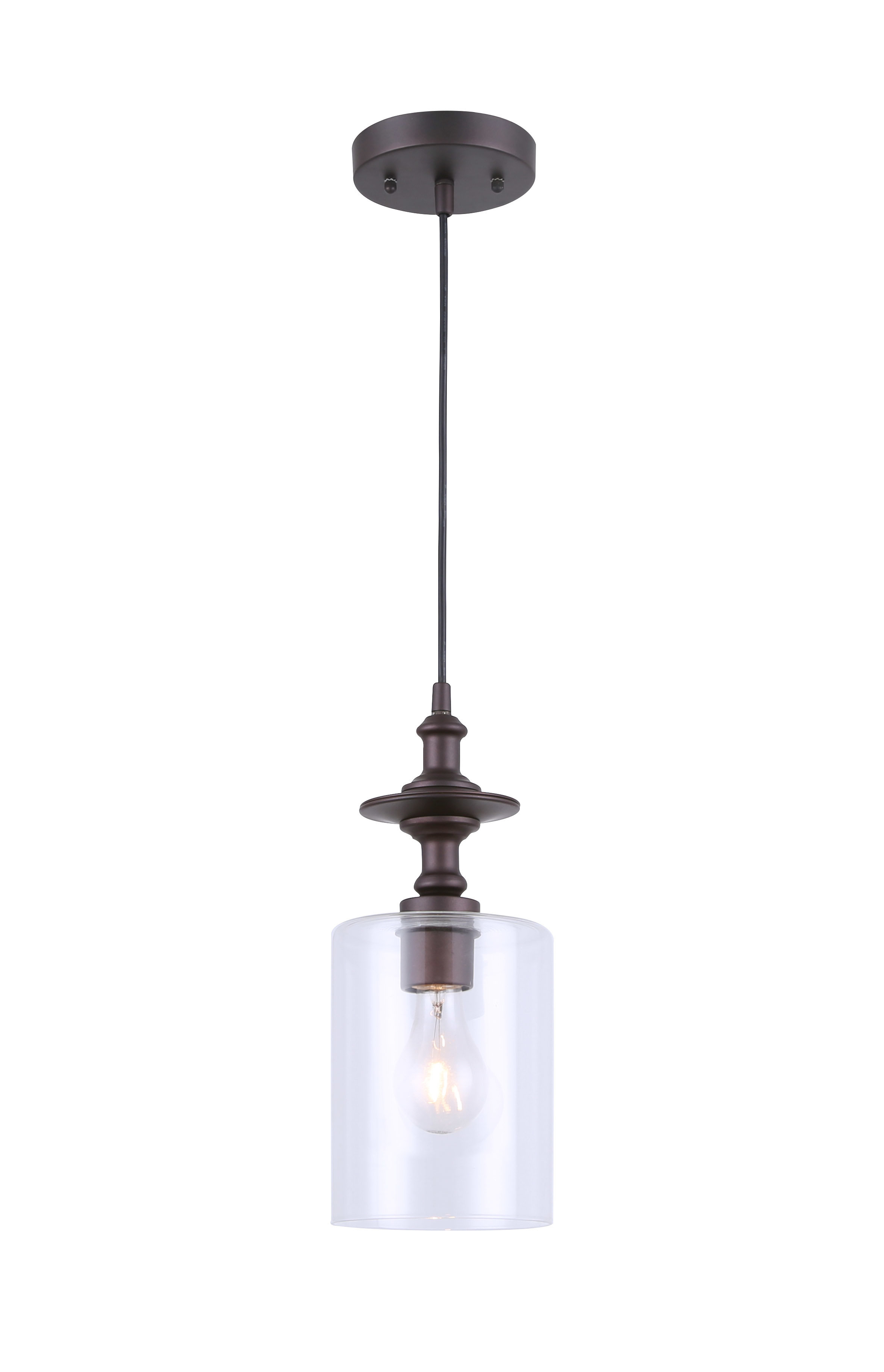 Wrought Studio Moyer 1 Light Single Cylinder Pendant Throughout Most Up To Date Houon 1 Light Cone Bell Pendants (View 11 of 20)