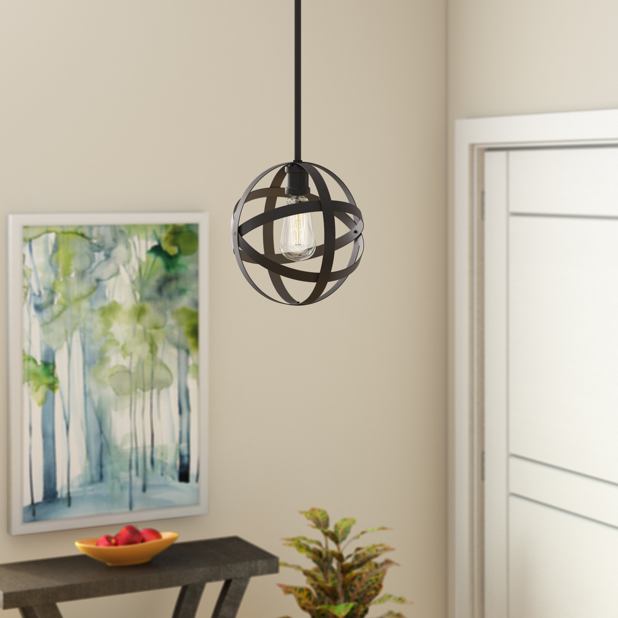Wrought Studio Prange 1 Light Single Globe Pendant & Reviews Within Latest Prange 1 Light Single Globe Pendants (Gallery 1 of 20)