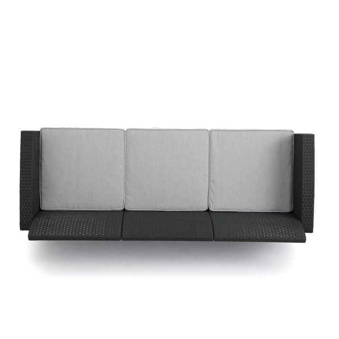 Yoselin Patio Sofa With Cushions In Preferred Yoselin Patio Sofas With Cushions (Gallery 3 of 20)