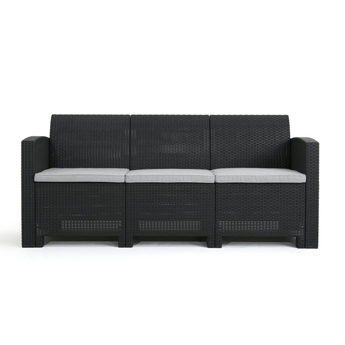 Yoselin Patio Sofa With Cushions With Famous Belton Patio Sofas With Cushions (View 20 of 20)