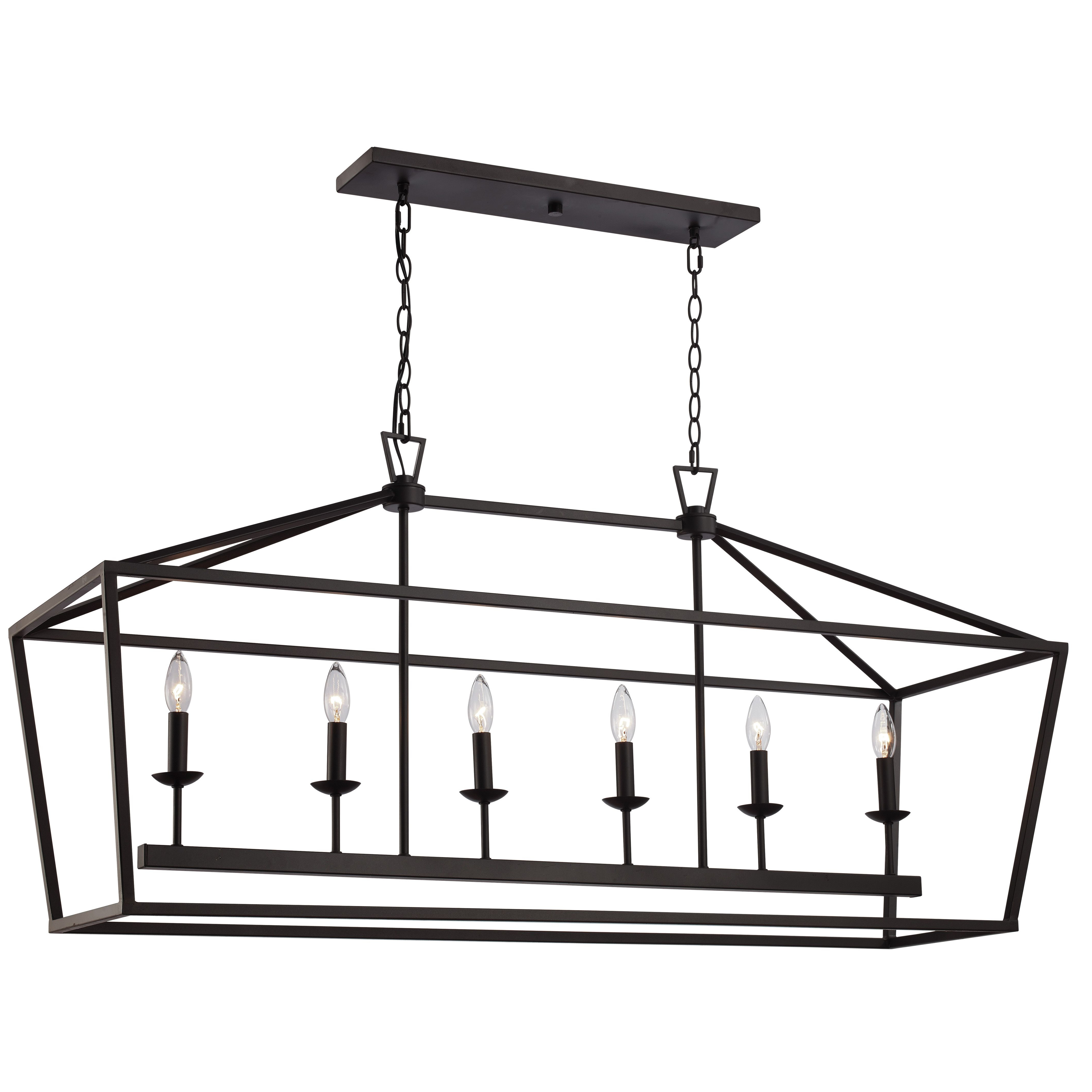 You'll Love The Carmen 6 Light Geometric Pendant At Wayfair Intended For Widely Used Carmen 8 Light Lantern Tiered Pendants (Gallery 12 of 20)