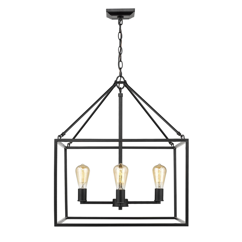 Zabel 4 Light Lantern Square / Rectangle Pendant Inside Most Popular Odie 8 Light Kitchen Island Square / Rectangle Pendants (View 11 of 20)