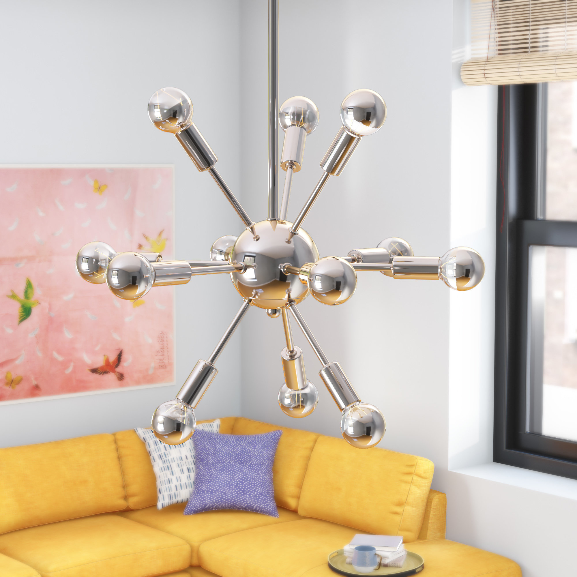 Zimmerman 12 Light Chandelier Within 2019 Bacchus 12 Light Sputnik Chandeliers (Gallery 15 of 20)