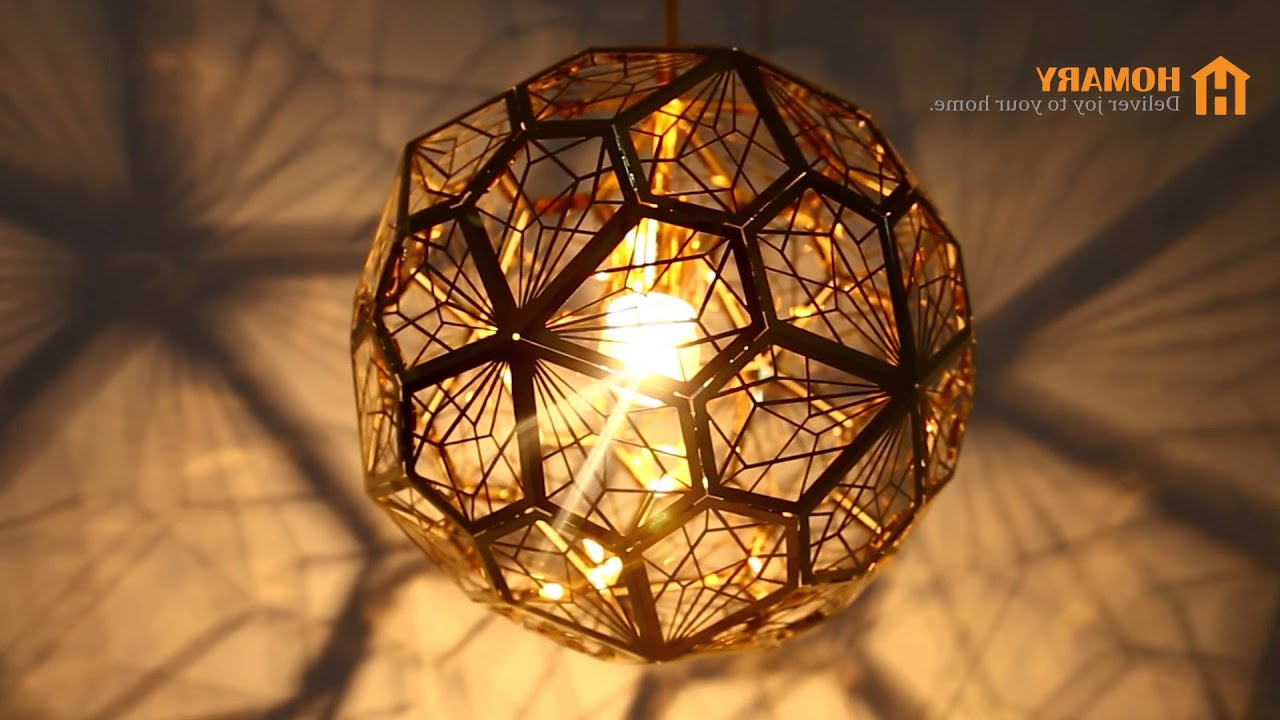 1 Light Geometric Globe Pendants For Most Current Modern Geometric Hollowed Out Globe 1 Light Pendant Light Review (View 1 of 20)