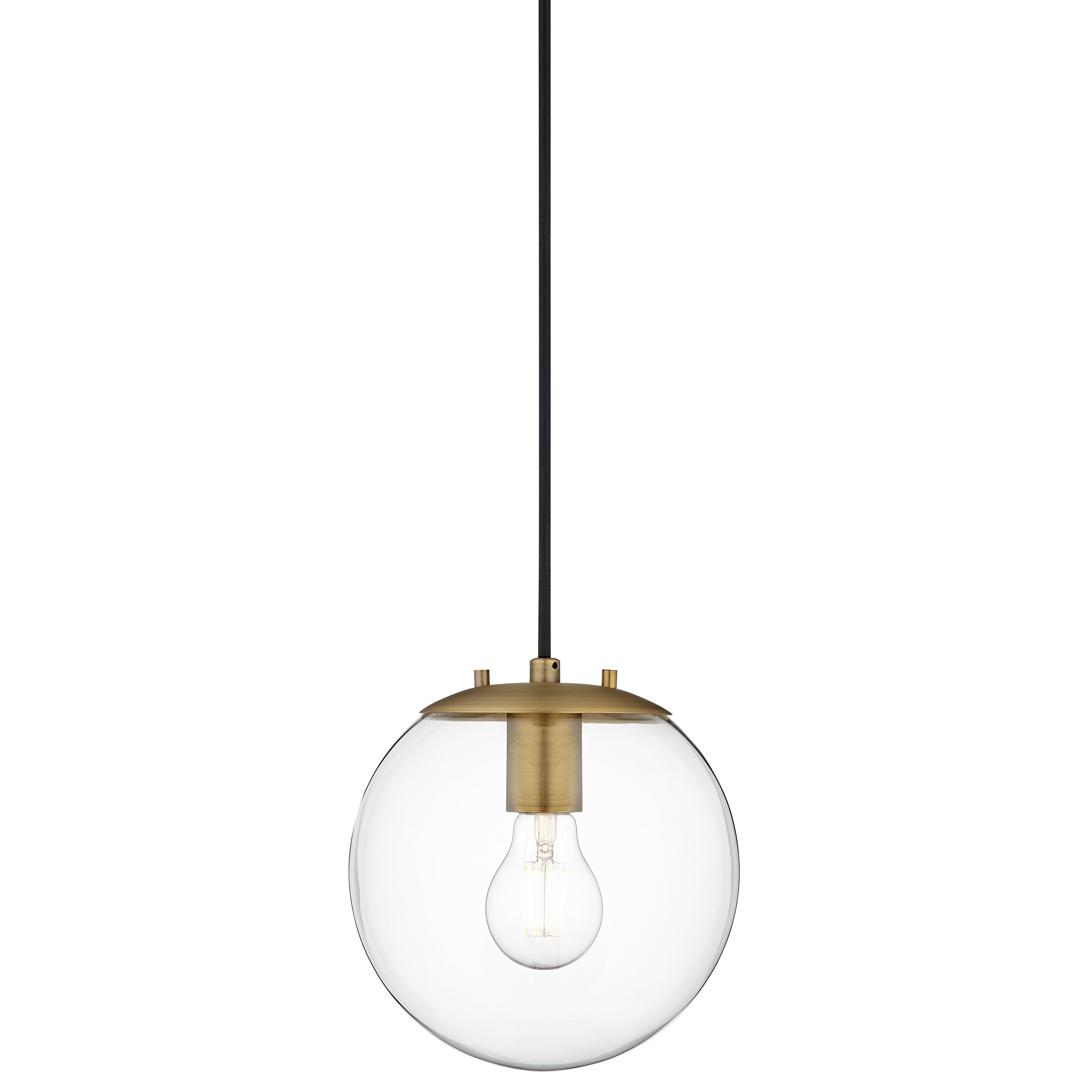 1 Light Globe Pendants Inside Favorite Wysocki 1 Light Single Globe Pendant (View 2 of 20)