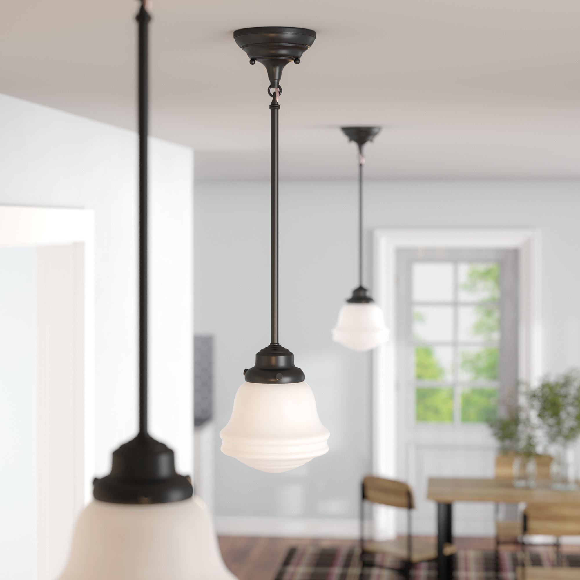 Featured Photo of 1 Light Single Schoolhouse Pendants