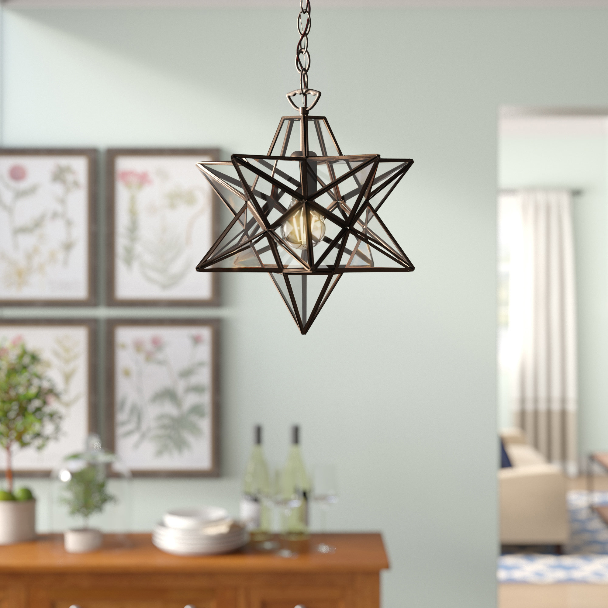 1 Light Single Star Pendant Inside Preferred 1 Light Single Star Pendants (View 8 of 20)