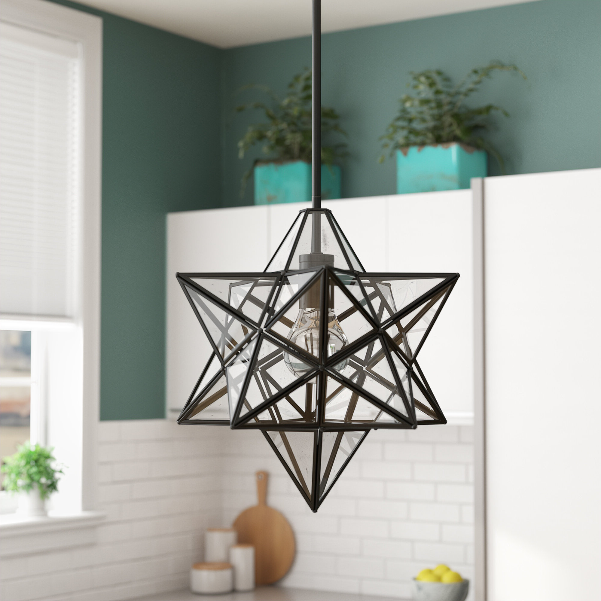 1 Light Single Star Pendants Inside Fashionable Berwick 1 Light Single Star Pendant (Gallery 12 of 20)