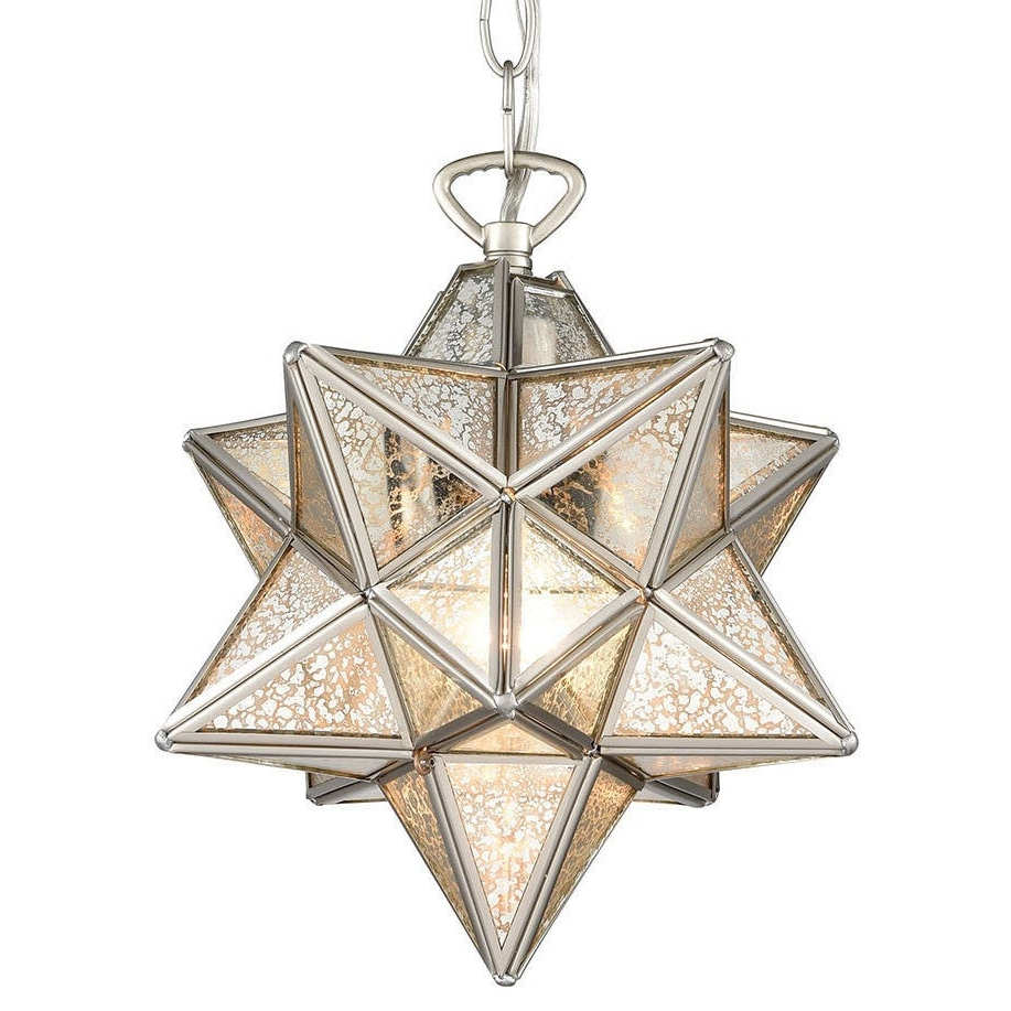 "1 Light Single Star Pendants Inside Well Known Elk Home 1145 016 Moravian Star Single Light 9"" Wide Mini Pendant (Gallery 18 of 20)"