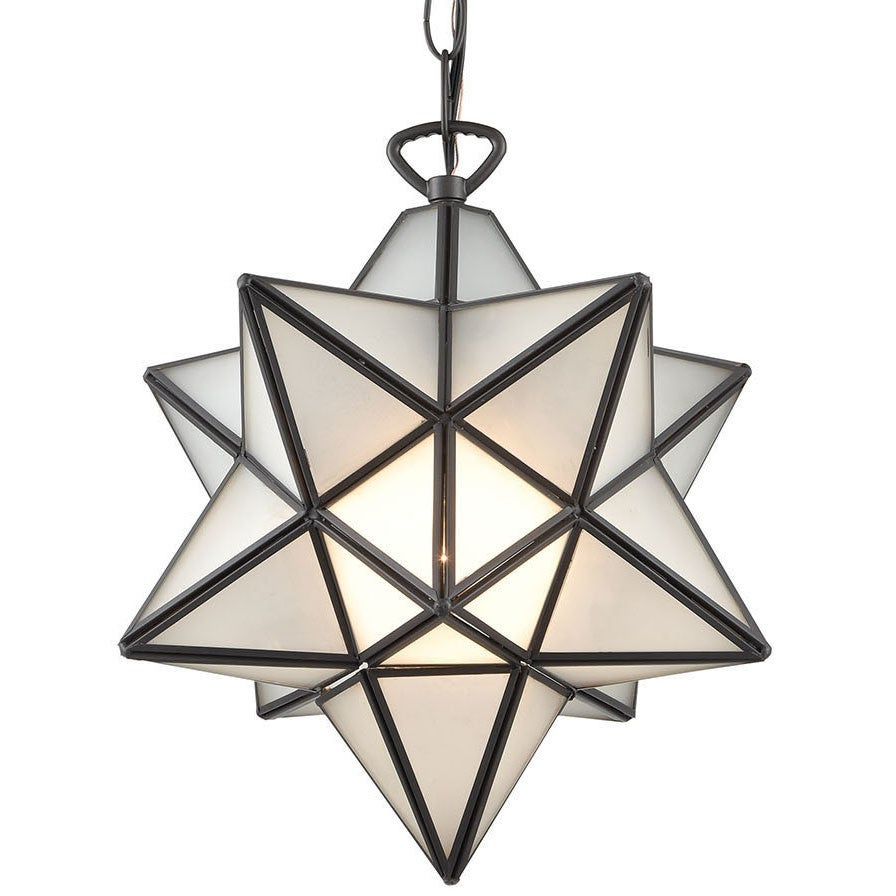 "1 Light Single Star Pendants With Regard To Trendy Elk Home 1145 021 Moravian Star Single Light 12"" Wide Pendant – (View 16 of 20)"