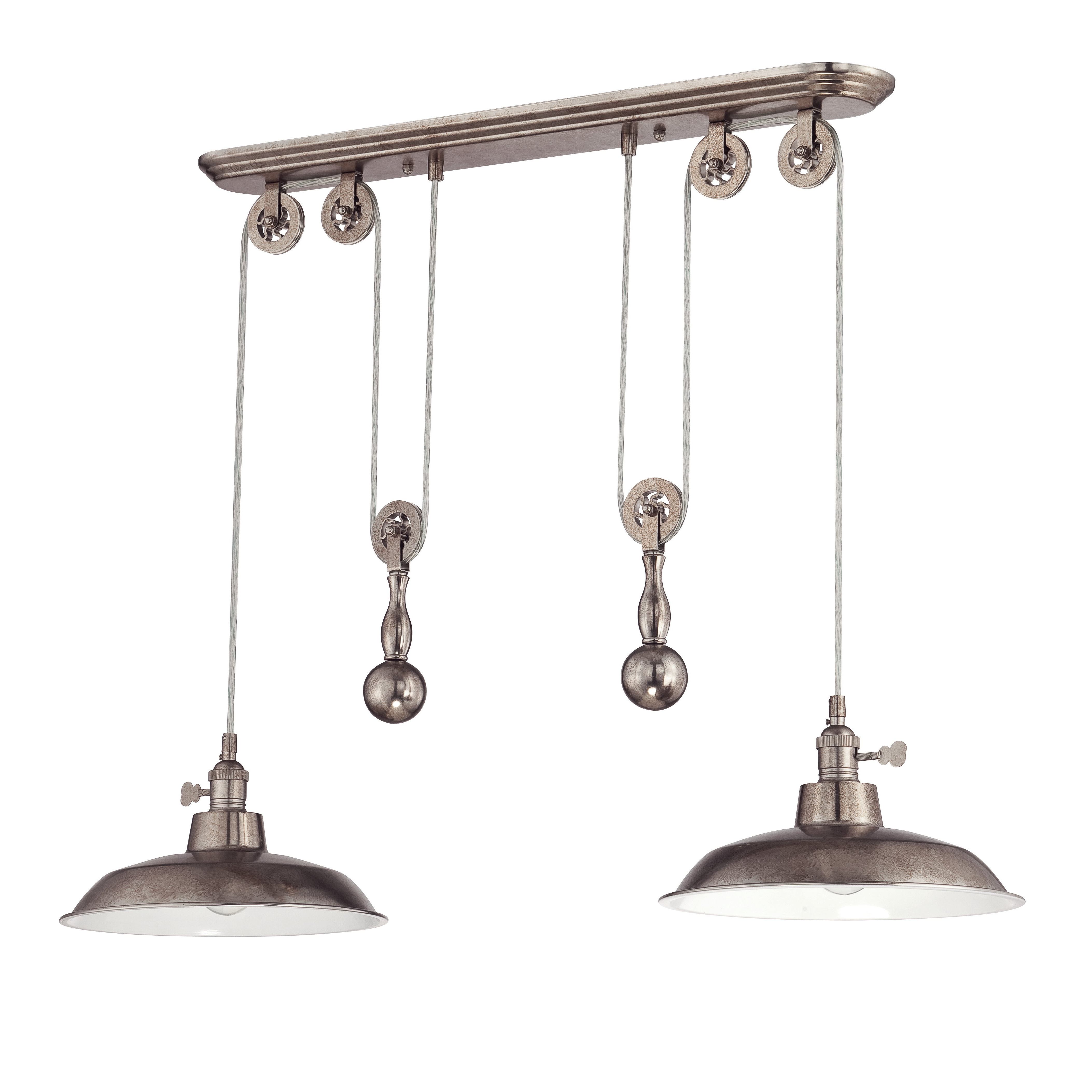 2019 Ariel 2 Light Kitchen Island Dome Pendants With Regard To Ariel 2 Light Kitchen Island Dome Pendant (View 1 of 20)