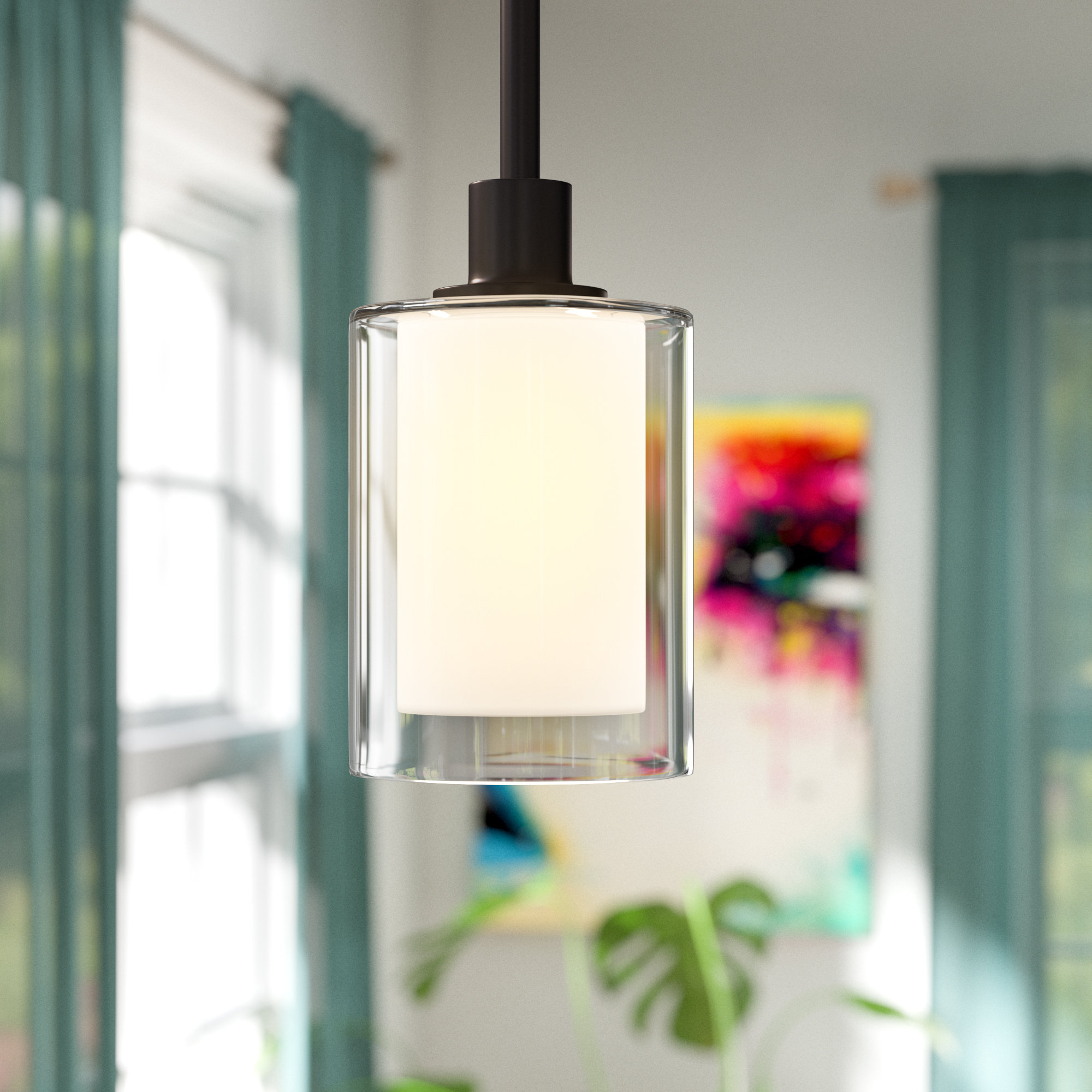 2019 Haverville 1 Light Single Cylinder Pendant With Angelina 1 Light Single Cylinder Pendants (View 2 of 20)