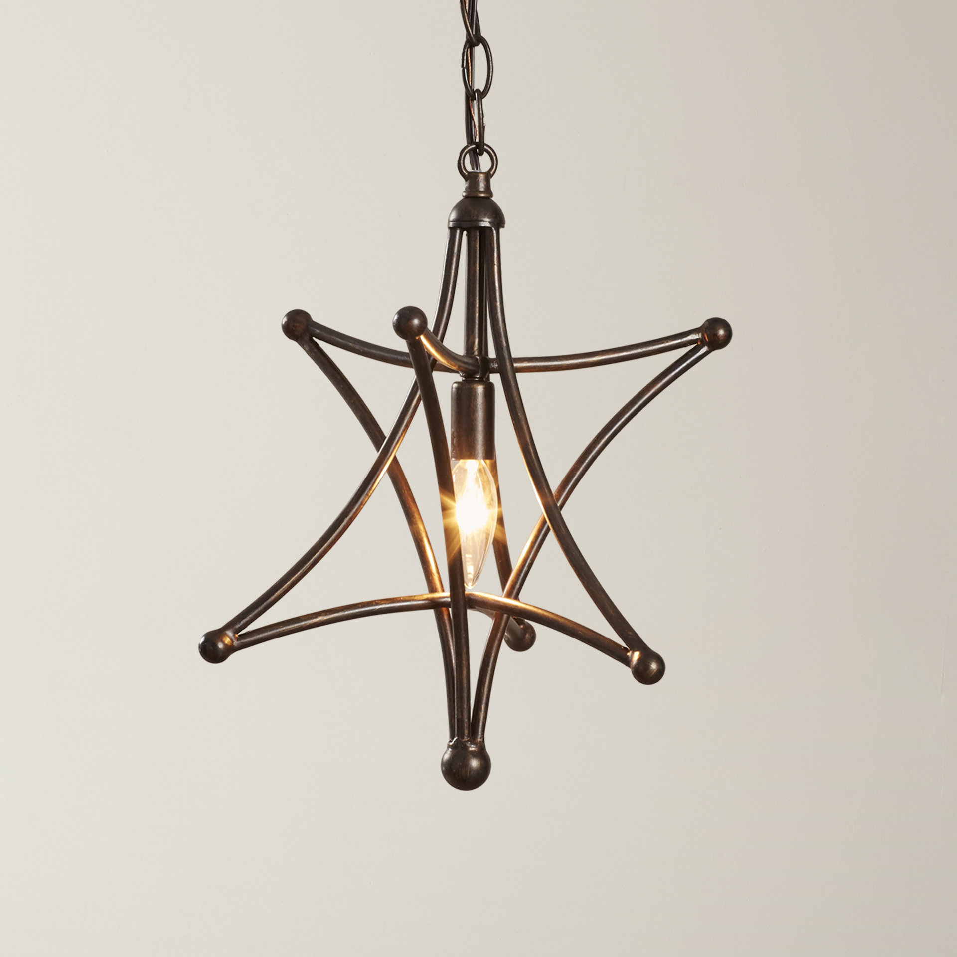 2020 Cynthia 1 Light Single Star Pendant For 1 Light Single Star Pendants (View 7 of 20)