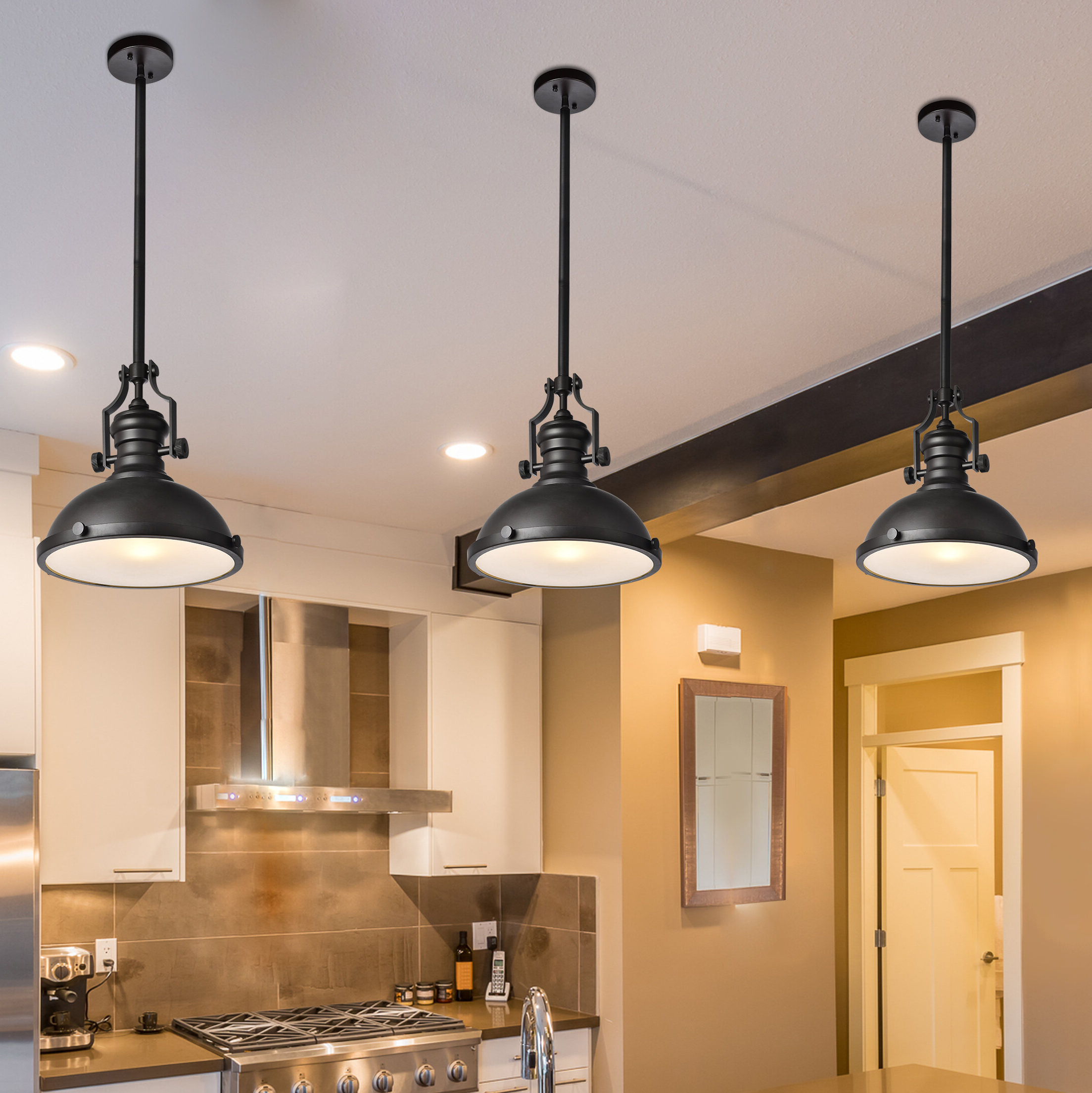 Adriana Black 1 Light Single Dome Pendants Intended For Famous Wheeler 1 Light Single Dome Pendant (View 5 of 20)