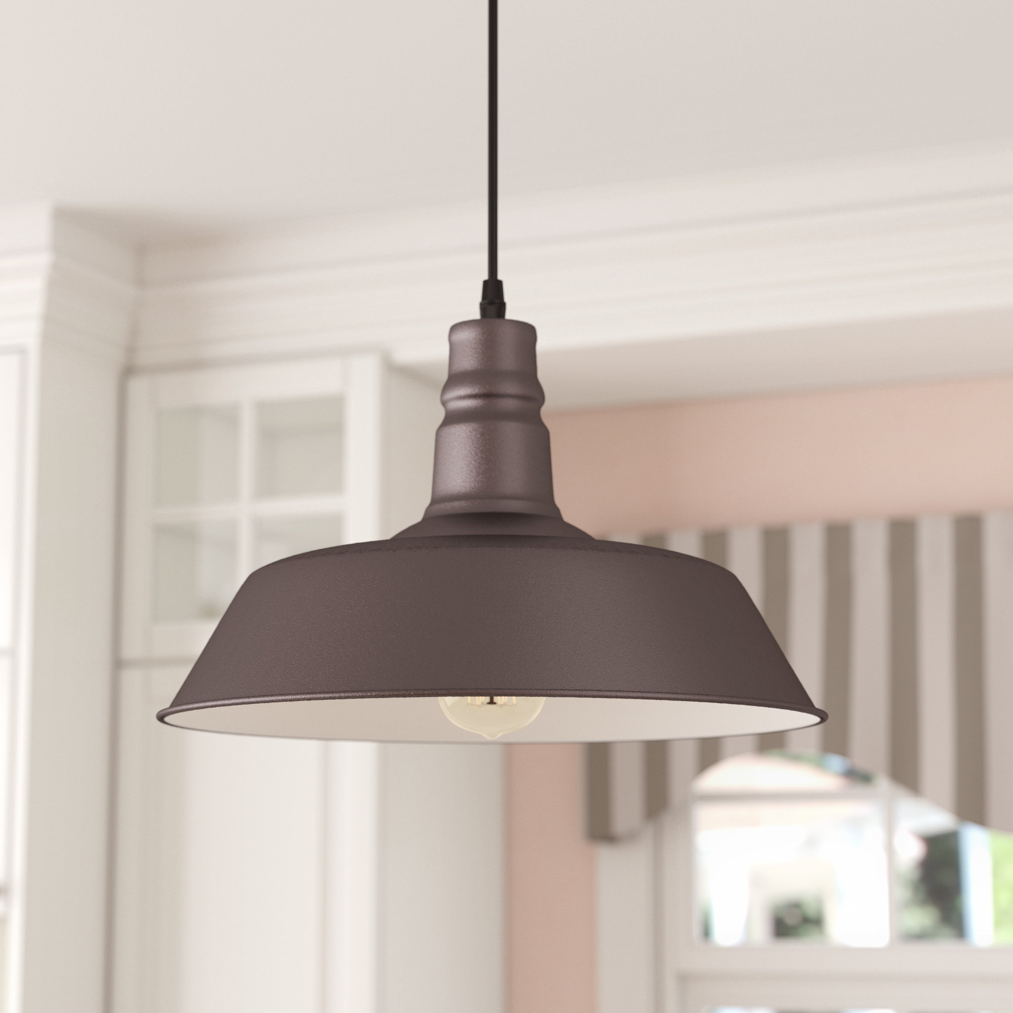 Adriana Black 1 Light Single Dome Pendants With Regard To Best And Newest Bouvet 1 Light Dome Pendant (View 16 of 20)