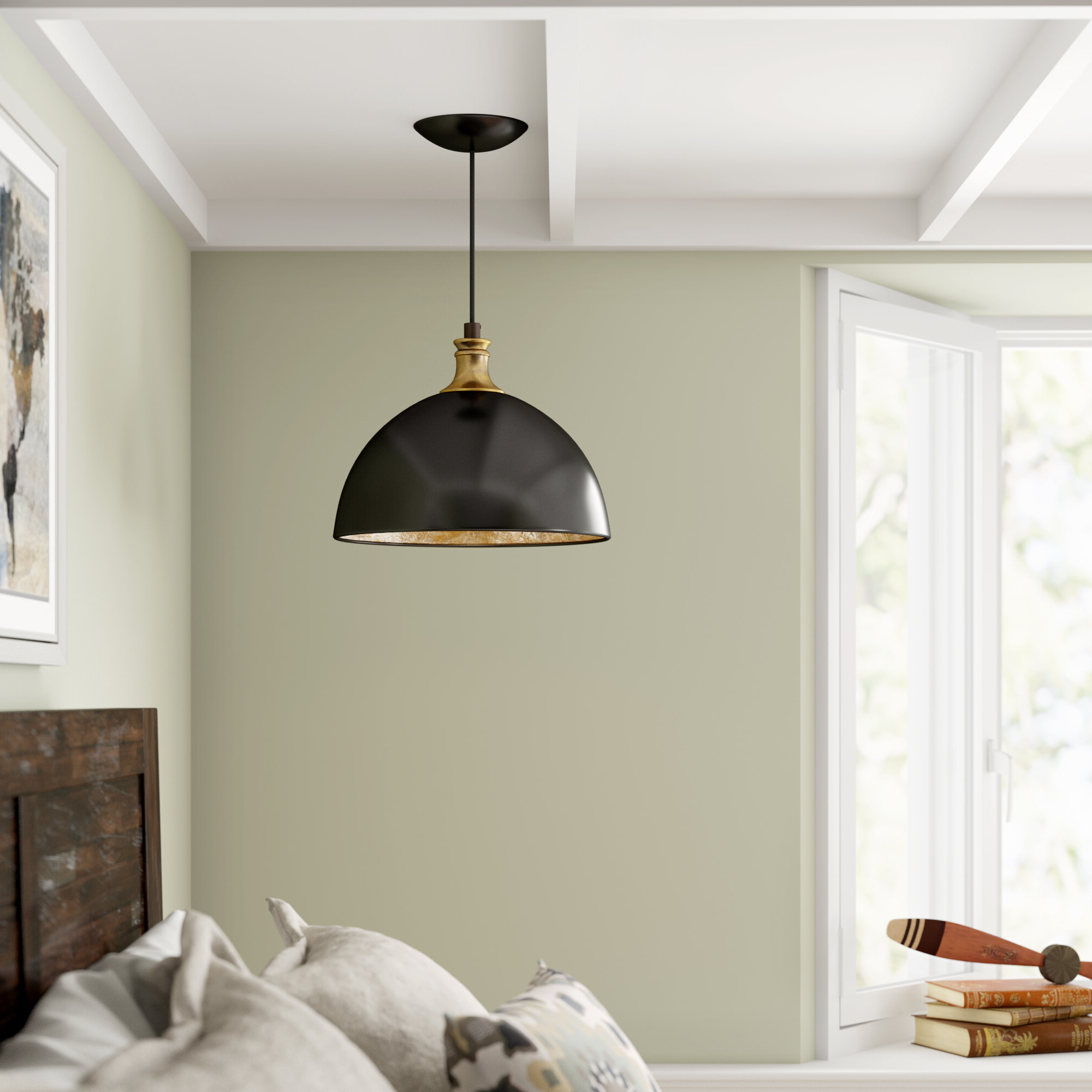 Amara 2 Light Dome Pendants Pertaining To Well Liked Vanhoose 1 Light Single Dome Pendant (View 4 of 20)