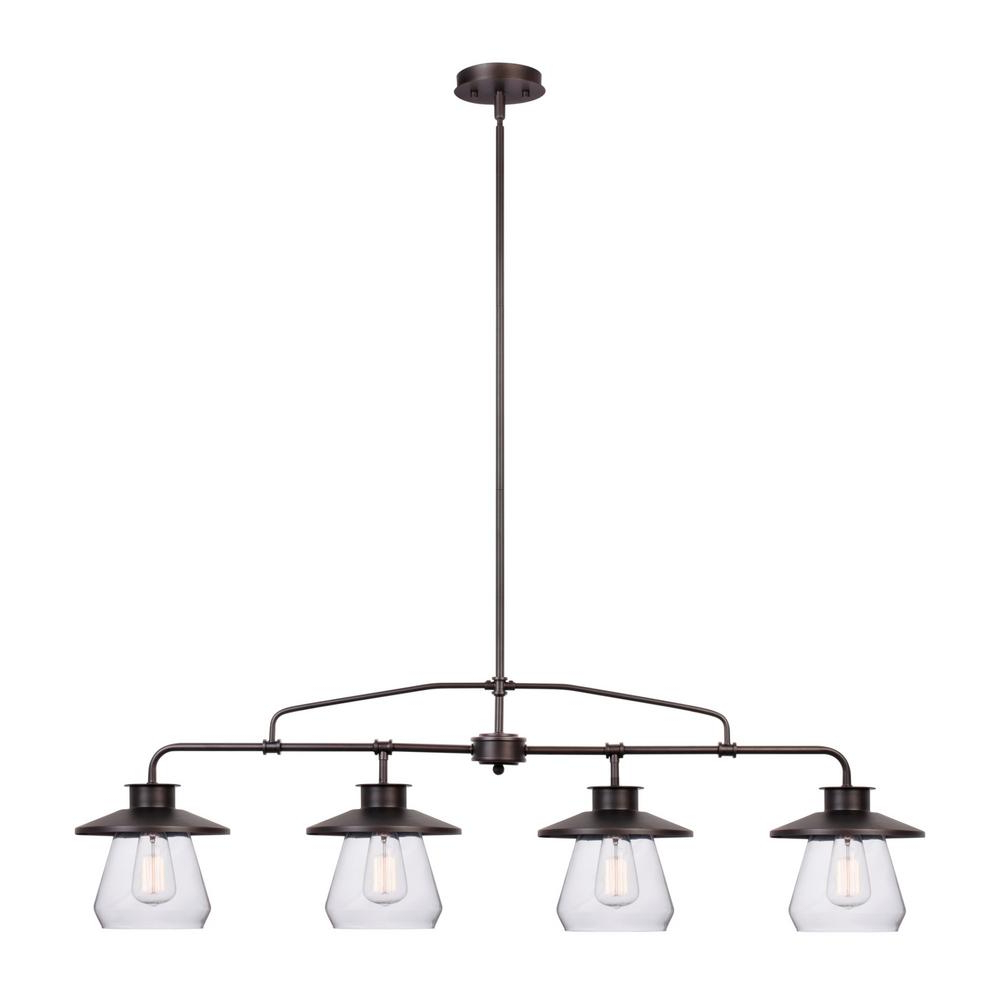 Angelina 1 Light Single Cylinder Pendants Regarding 2019 Globe Electric Nate 4 Light Oil Rubbed Bronze Industrial Vintage Pendant (View 10 of 20)
