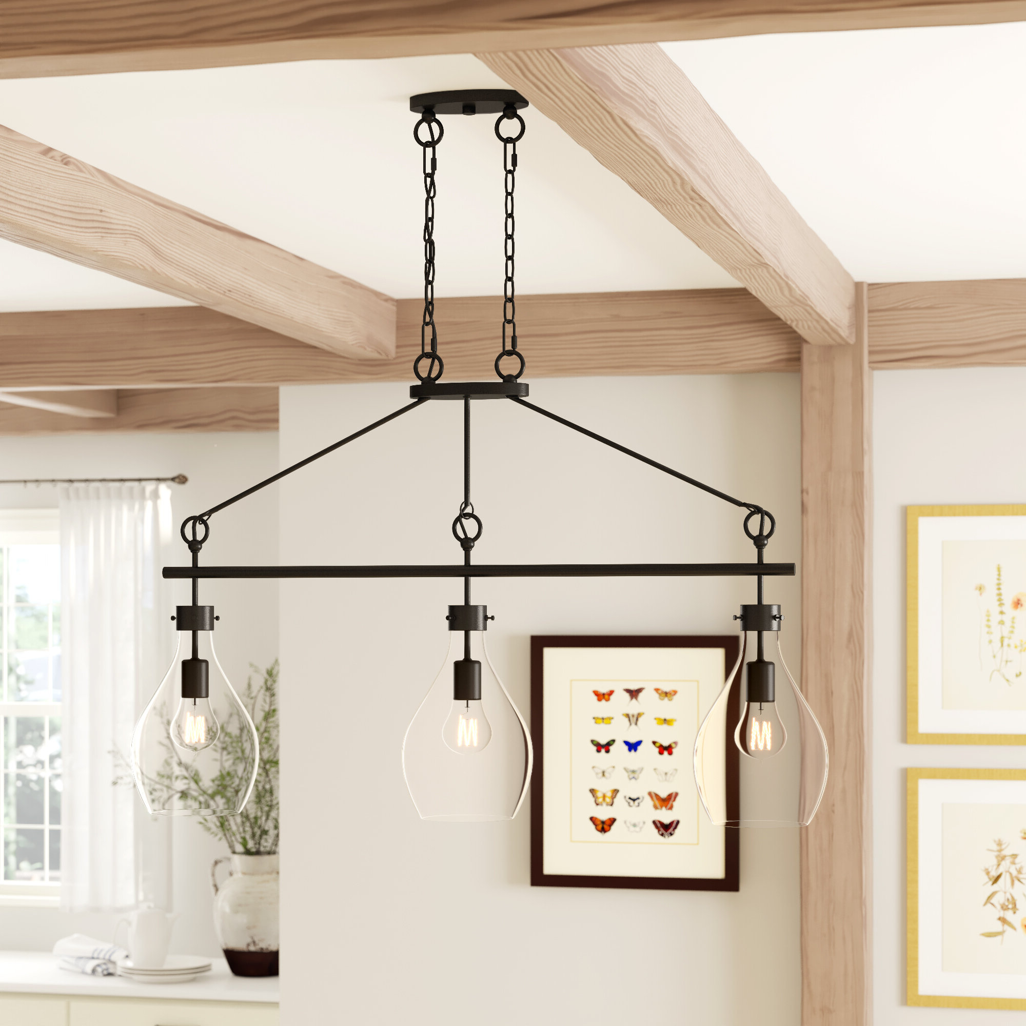 Ariel 2 Light Kitchen Island Dome Pendants With Well Known Nan 3 Light Kitchen Island Teardrop Pendant (Gallery 15 of 20)