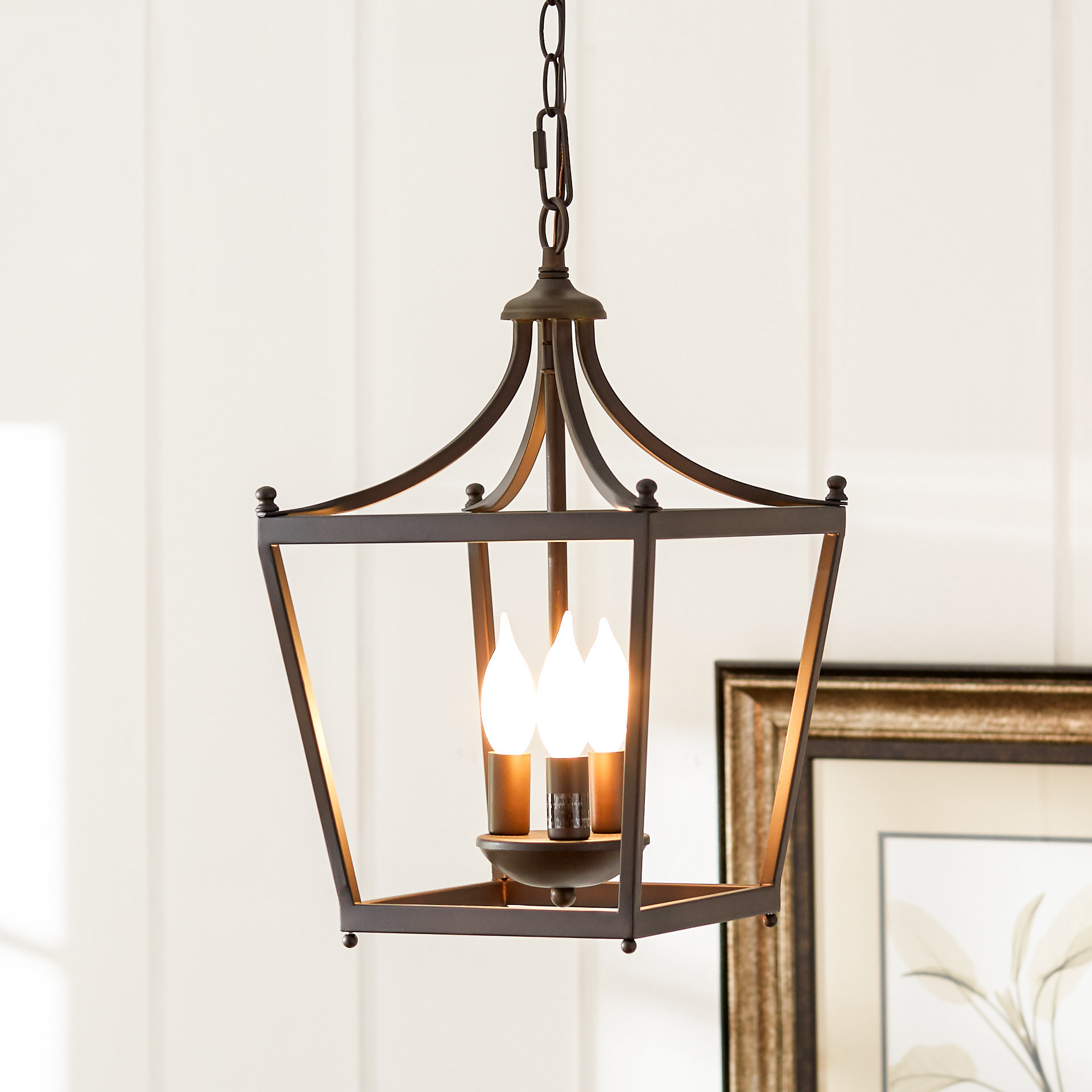 Armande 3 Light Lantern Geometric Pendants Inside Well Known Birch Lane™ Heritage Gabriella 3 Light Lantern Geometric Pendant (View 3 of 20)
