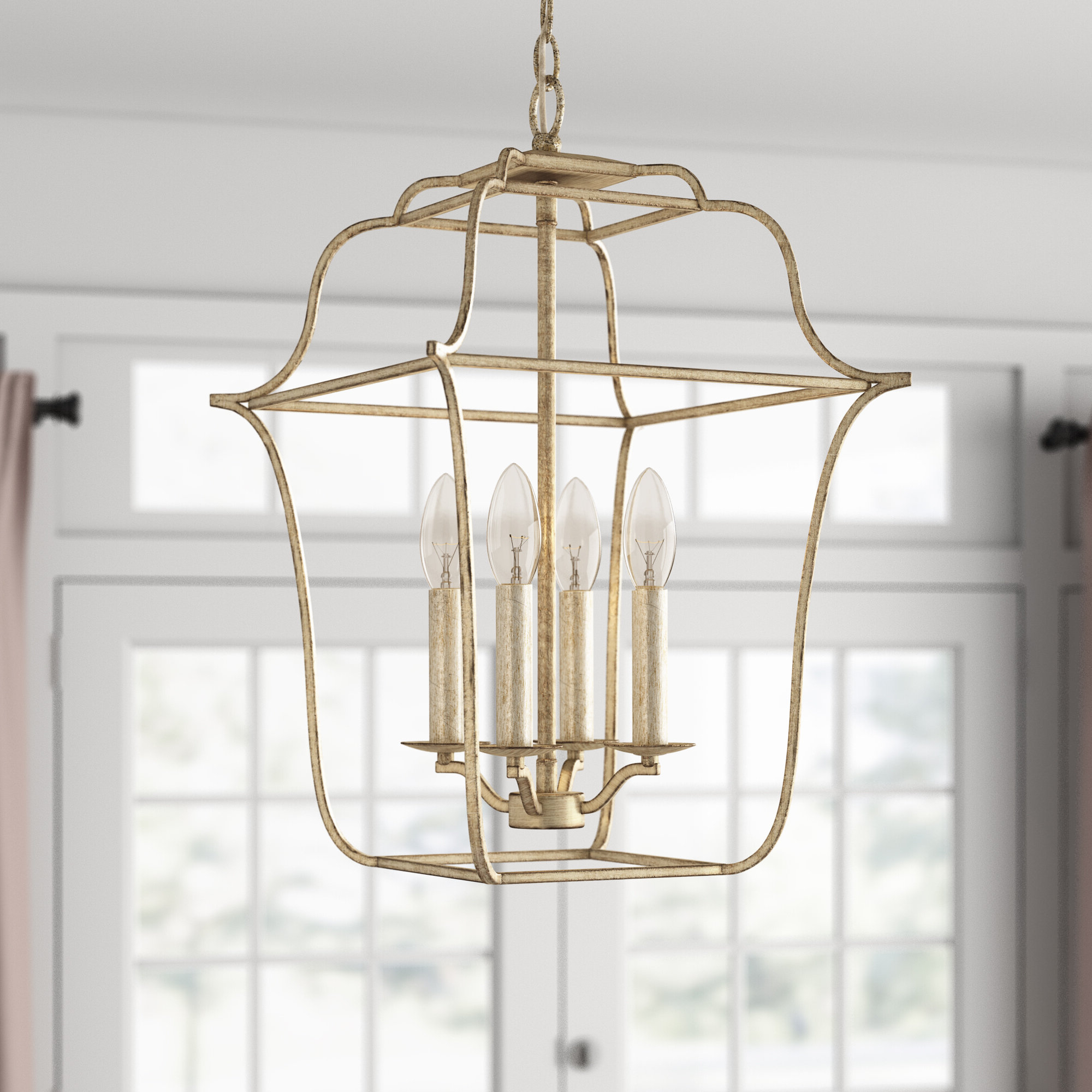 Armande 3 Light Lantern Geometric Pendants Throughout Well Known Chloe 4 Light Lantern Geometric Pendant (View 5 of 20)