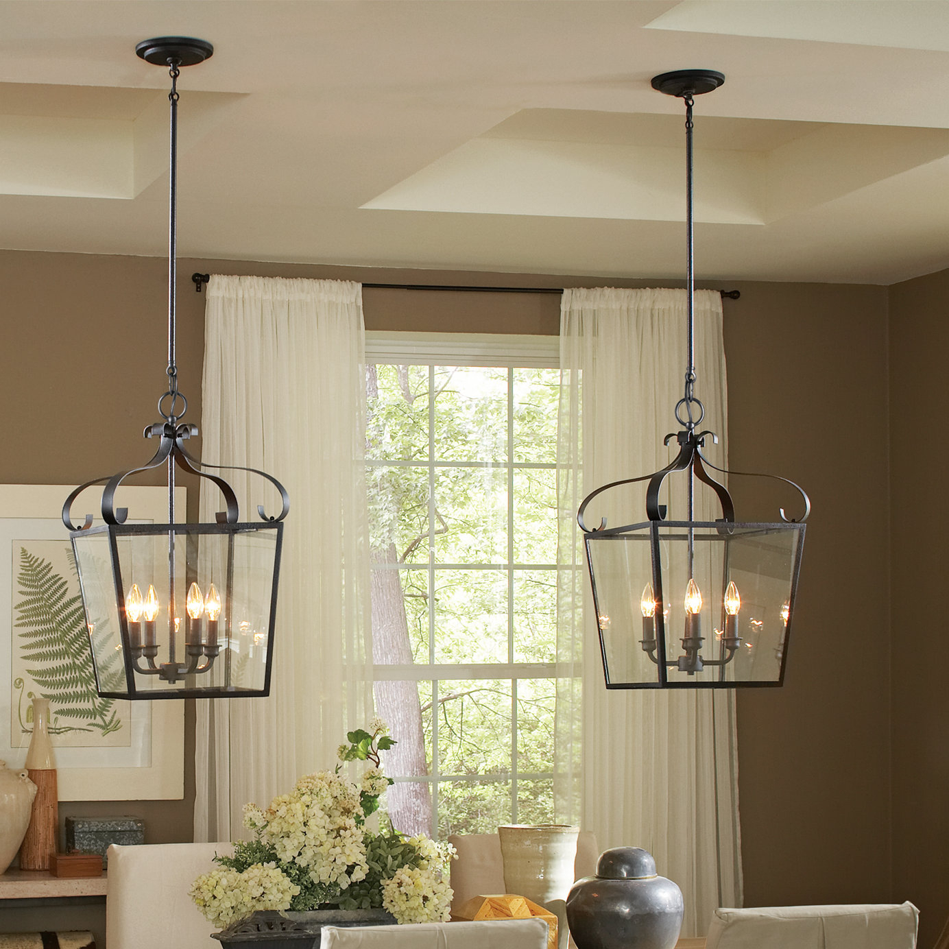 Armande 4 Light Lantern Drum Pendants In 2019 Weston 4 Light Lantern Geometric Pendant (View 1 of 20)