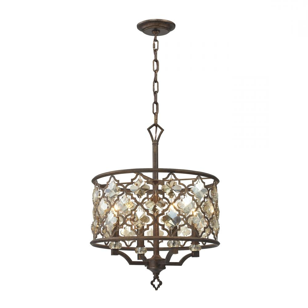 Armande 4 Light Lantern Drum Pendants In Widely Used Armand 4 Light : Vnvf (View 14 of 20)