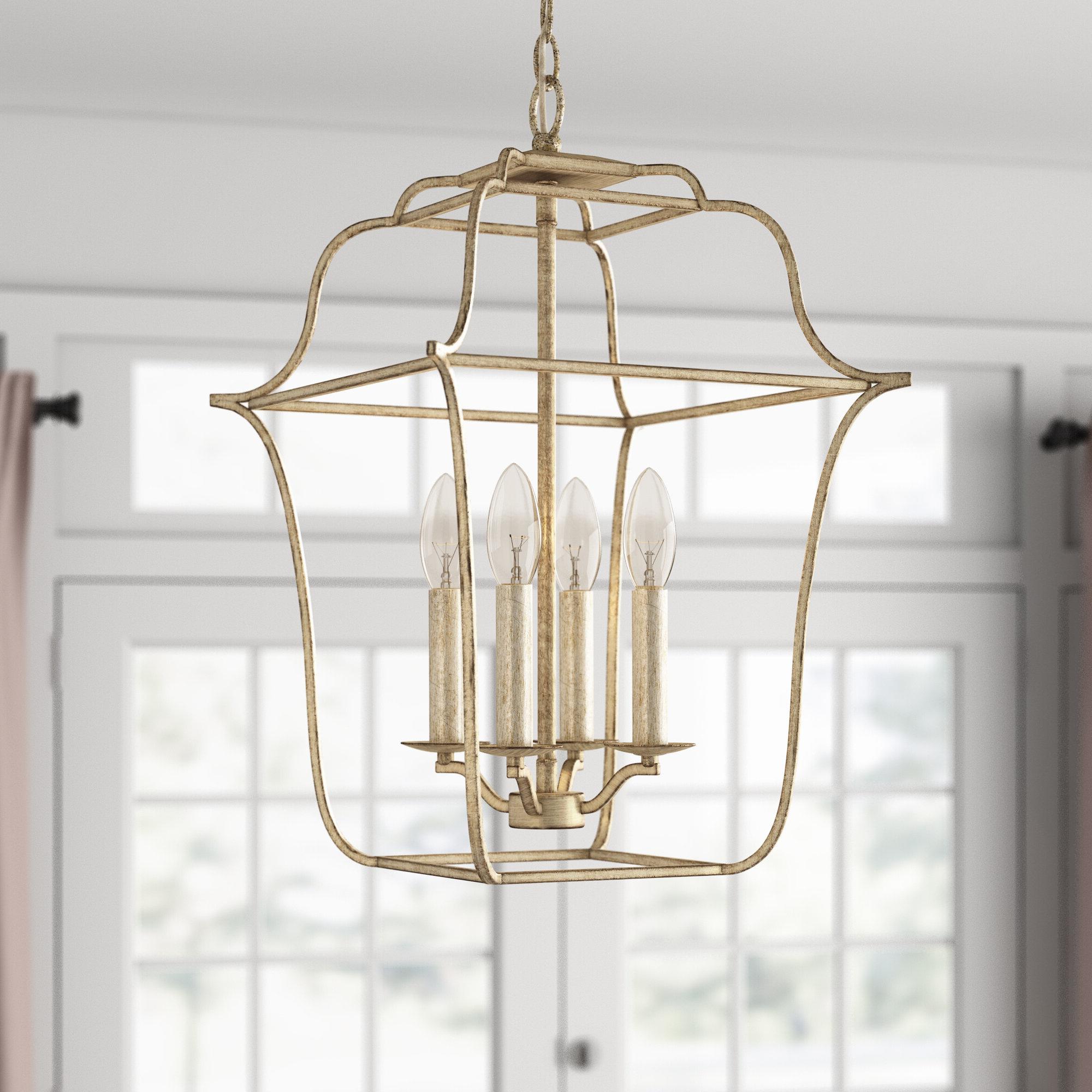 Armande 4 Light Lantern Drum Pendants With Trendy Chloe 4 Light Lantern Geometric Pendant (View 10 of 20)