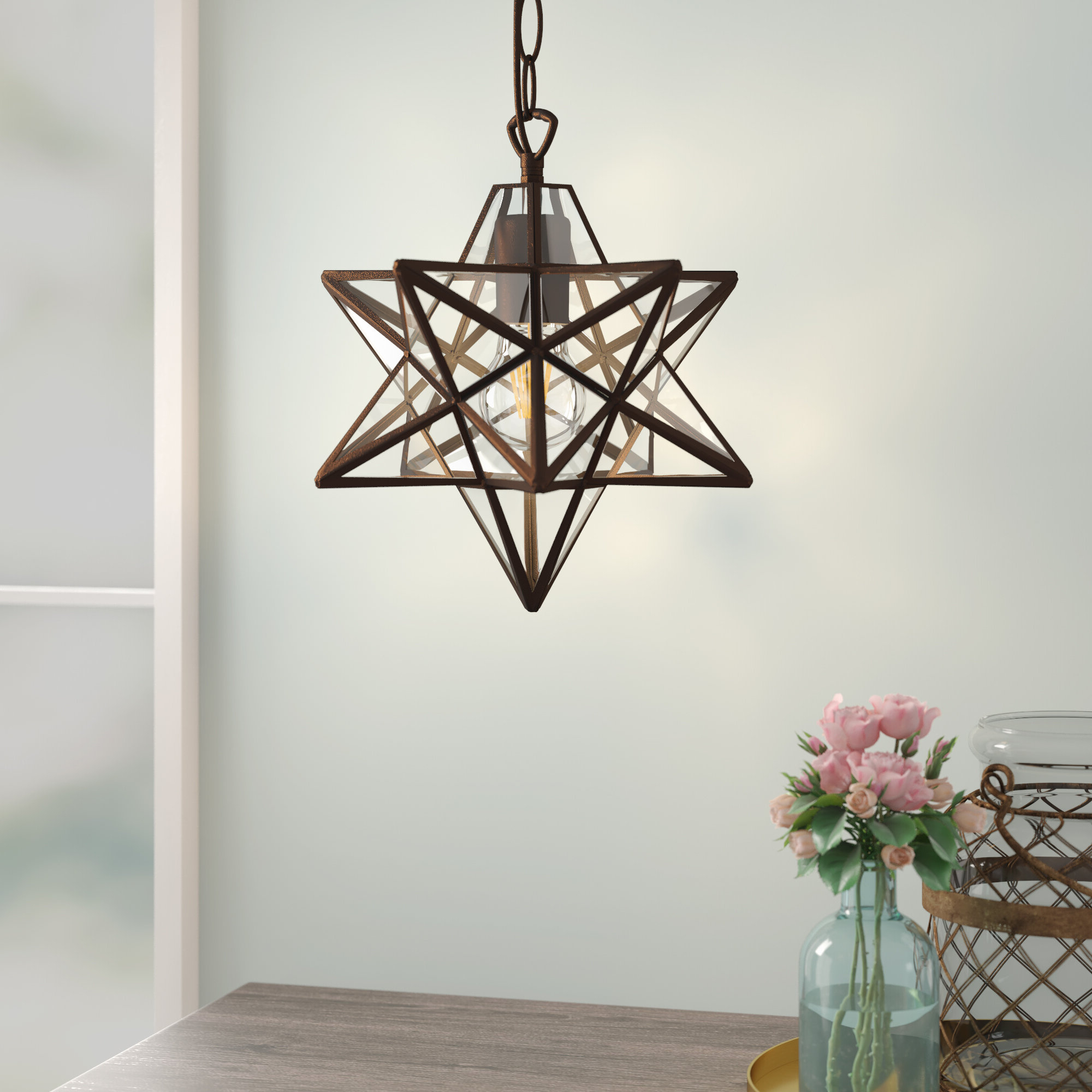 Best And Newest 1 Light Single Star Pendants With 1 Light Single Star Pendant (View 8 of 20)